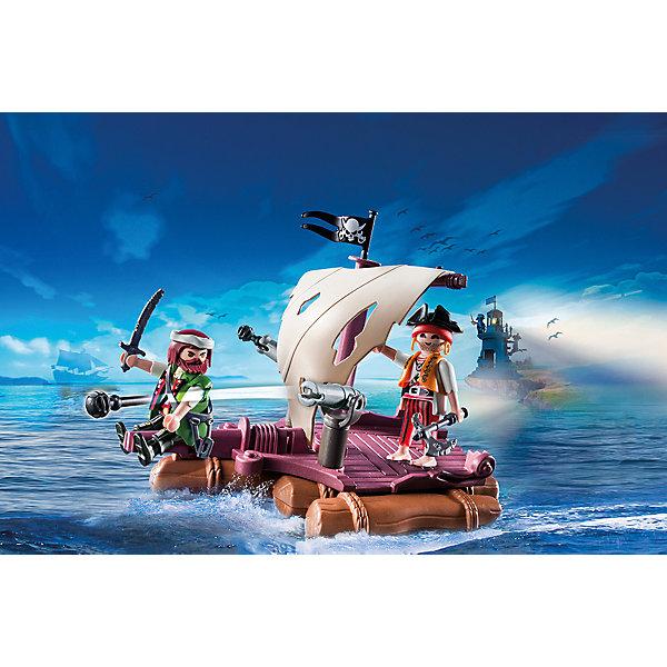 Пиратский плот, PLAYMOBILПластмассовые конструкторы<br>Хочешь отправиться в путешествие на плоту? Два пирата составят тебе компанию! Плот хорошо держится на воде, при желании его можно оснастить мотором ( продается отдельно), парус поворачивается. Фигурки пиратов имеют подвижные конечности, в руки можно вложить различные предметы. Все детали прекрасно проработаны и выполнены из высококачественного экологичного пластика безопасного для детей. Играть с таким набором не только приятно и интересно - подобные виды игры развивают мелкую моторику, воображение, творческое мышление.<br><br>Дополнительная информация:<br><br>- 2 фигурки.<br>- Комплектация: 2 фигурки, 2 пушки, парус, плот, аксессуары.<br>- Материал: пластик.<br>- Размер упаковки: 25,4х19х8 см.<br>- Высота фигурки: 7,5 см.<br>- Голова, руки, ноги у фигурки подвижные.<br><br>Набор Пиратский плот, PLAYMOBIL (Плеймобил), можно купить в нашем магазине.<br><br>Ширина мм: 253<br>Глубина мм: 187<br>Высота мм: 76<br>Вес г: 317<br>Возраст от месяцев: 48<br>Возраст до месяцев: 120<br>Пол: Мужской<br>Возраст: Детский<br>SKU: 4012478