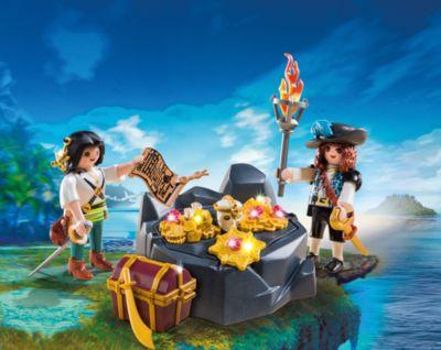 PLAYMOBIL® Пиратский тайник с сокровищами, PLAYMOBIL