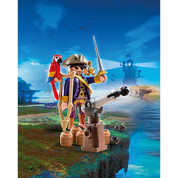 Капитан пиратов, PLAYMOBILПластмассовые конструкторы<br>Познакомься с капитаном пиратов! Если повезет, он научит тебя стрелять из пушки, даст подержать своего попугая и расскажет, где же спрятаны сокровища! Фигурка имеет подвижные конечности, в руки можно вложить различные предметы. Все детали прекрасно проработаны и выполнены из высококачественного экологичного пластика безопасного для детей. Играть с таким набором не только приятно и интересно - подобные виды игры развивают мелкую моторику, воображение, творческое мышление.<br><br>Дополнительная информация:<br><br>- 1 фигурка<br>- Комплектация: 1 фигурка, пушка, бочки, попугай, аксессуары. <br>- Материал: пластик.<br>- Размер: 15х10х5 см.<br>- Высота фигурки: 7,5 см.<br>- Голова, руки, ноги у фигурки подвижные.<br><br>Набор Пиратский тайник с сокровищами, PLAYMOBIL (Плеймобил), можно купить в нашем магазине.<br><br>Ширина мм: 147<br>Глубина мм: 94<br>Высота мм: 50<br>Вес г: 77<br>Возраст от месяцев: 48<br>Возраст до месяцев: 120<br>Пол: Мужской<br>Возраст: Детский<br>SKU: 4012480