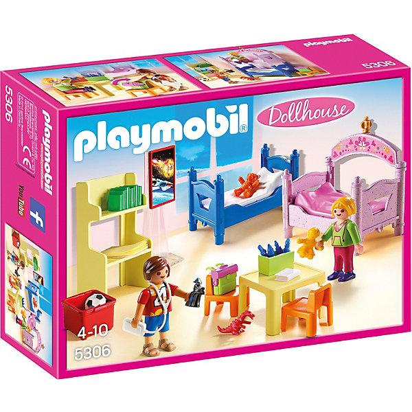 Детская комната для 2-х детей, PLAYMOBILПластмассовые конструкторы<br>В этой очаровательной детской комнате так уютно и светло! Здесь есть все, чтобы малыши не заскучали: стеллаж с книжками, игрушки, стол и два стула, и, конечно, две кроватки, чтобы отдохнуть. В наборе 2 фигурки детей: мальчик и девочка. Фигурки имеют подвижные конечности, в руки можно вложить различные предметы. Все детали прекрасно проработаны и выполнены из высококачественного экологичного пластика безопасного для детей. Играть с таким набором не только приятно и интересно - подобные виды игры развивают мелкую моторику, воображение, творческое мышление.<br><br>Дополнительная информация:<br><br>- 2 фигурки.<br>- Комплектация: 2 фигурки, 2 кровати, 2 стула, стол, стеллаж, книги, игрушки. <br>- Материал: пластик.<br>- Размер: 25х19х7,6 см.<br>- Высота фигурки: 5,5 см.<br>- Голова, руки, ноги у фигурки подвижные.<br><br>Набор Детская комната для 2-х детей, PLAYMOBIL (Плеймобил), можно купить в нашем магазине.<br>Ширина мм: 253; Глубина мм: 190; Высота мм: 76; Вес г: 226; Возраст от месяцев: 48; Возраст до месяцев: 120; Пол: Женский; Возраст: Детский; SKU: 4012487;