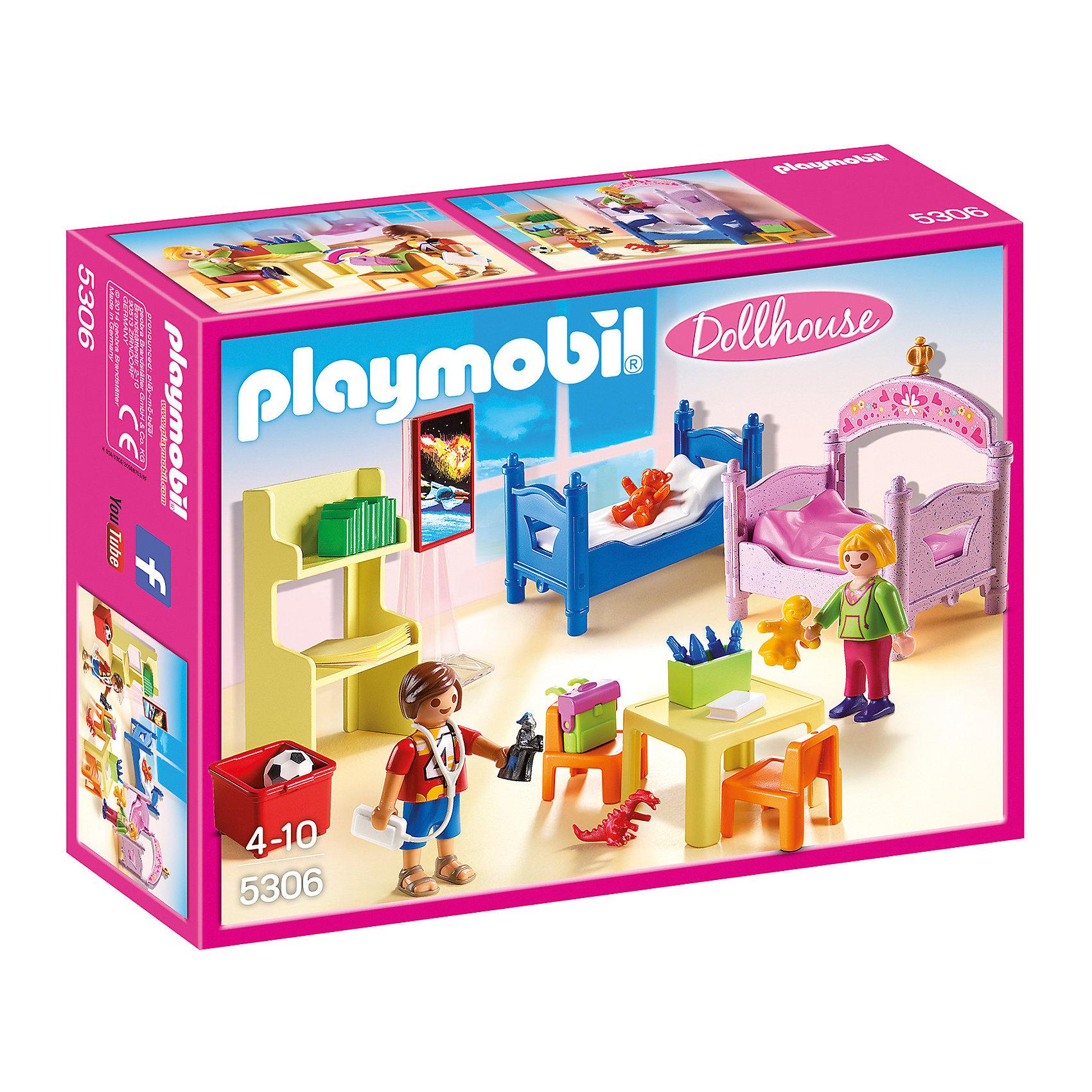 PLAYMOBIL® Детская комната для 2-х детей, PLAYMOBIL фигурки игрушки playmobil зоопарк стая фламинго