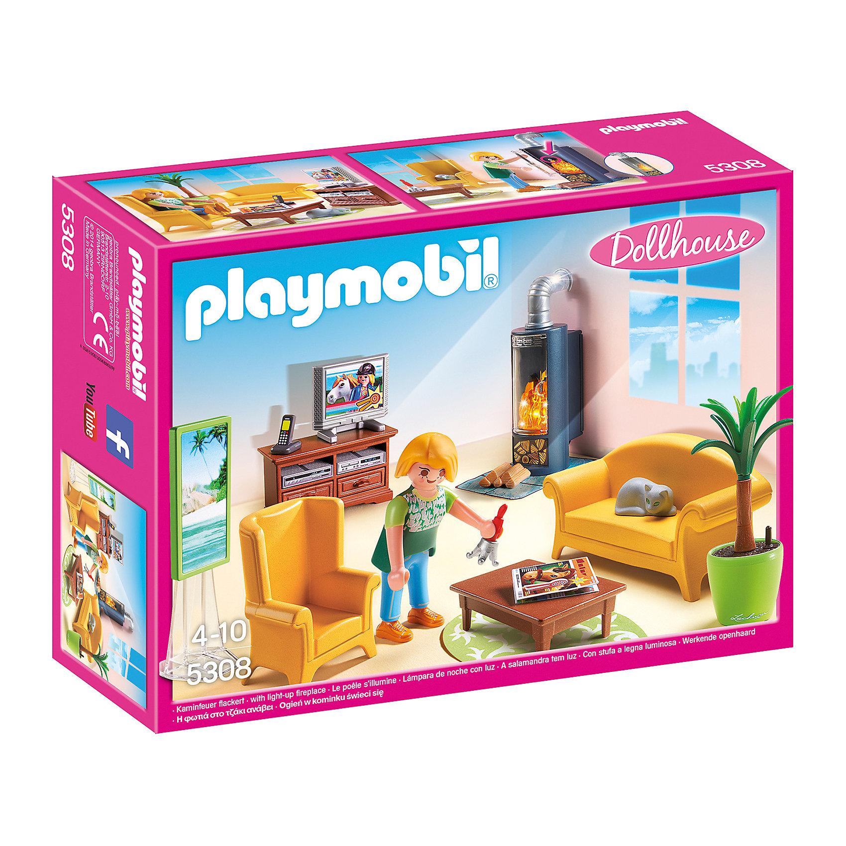 PLAYMOBIL® Гостиная с камином, PLAYMOBIL