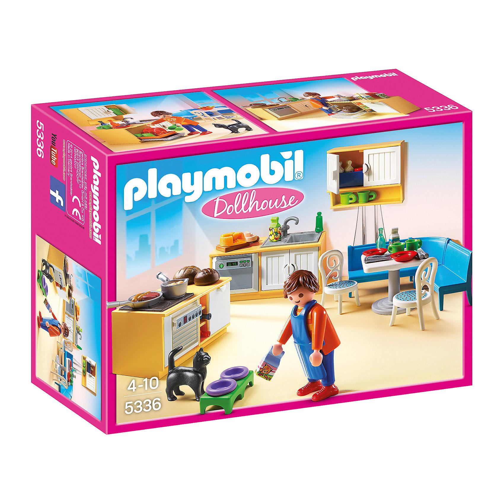 PLAYMOBIL® Встроенная кухня с зоной отдыха, PLAYMOBIL playmobil® встроенная кухня с зоной отдыха playmobil
