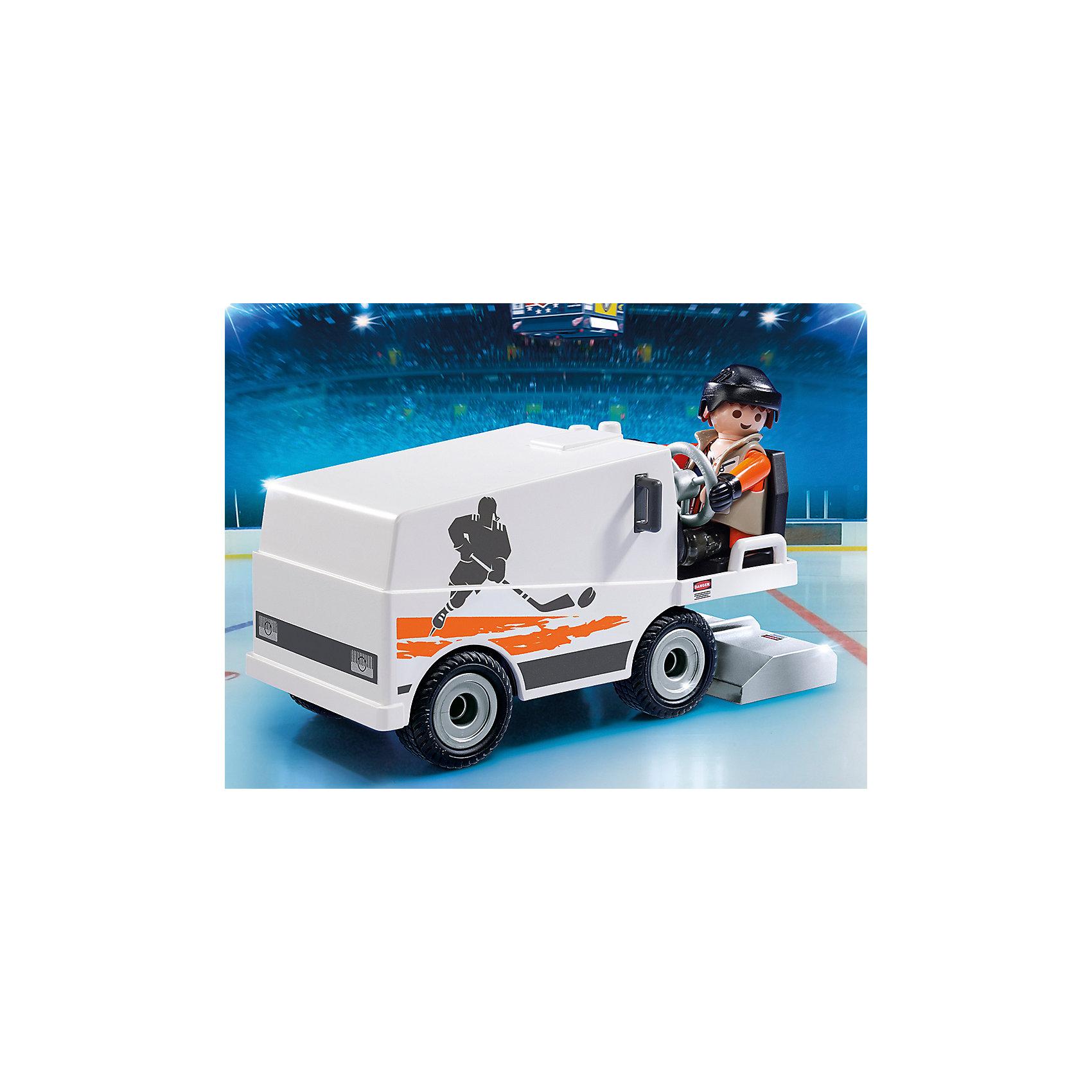 Хоккей: Машина для заливки льда, PLAYMOBILИз деталей этого набора можно собрать машину для заливки льда, за рулем которой сидит рабочий в черной каске и перчатках. Фигурка имеет подвижные конечности, в руки можно вложить инструменты. Все детали прекрасно проработаны и выполнены из высококачественного экологичного пластика безопасного для детей. Играть с таким набором не только приятно и интересно - подобные виды игры развивают мелкую моторику, воображение, творческое мышление.<br><br>Дополнительная информация:<br><br>- 1 фигурка в наборе.<br>- Комплектация: фигурка рабочего, машина.<br>- Материал: пластик.<br>- Размер упаковки: 19х14х10 см.<br>- Высота фигурки: 7,5 см.<br>- Голова, руки, ноги у фигурки подвижные.<br>- Колеса машины крутятся.<br>- Каска и перчатки снимаются.<br><br>Набор Хоккей: Машина для заливки льда, PLAYMOBIL (Плеймобил), можно купить в нашем магазине.<br><br>Ширина мм: 192<br>Глубина мм: 144<br>Высота мм: 100<br>Вес г: 229<br>Возраст от месяцев: 60<br>Возраст до месяцев: 120<br>Пол: Мужской<br>Возраст: Детский<br>SKU: 4012495