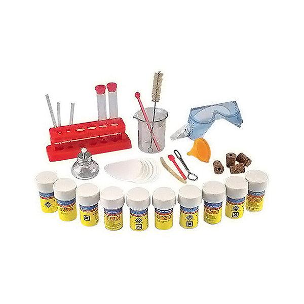 Химический набор Лаборатория, Edu-ToysХимия и физика<br>Химический набор Лаборатория, Edu-Toys станет замечательным подарком для юных естествоиспытателей и увлечет не только детей, но и их родителей. С помощью этого уникального набора можно провести множество опытов и экспериментов, которые дадут Вашему ребенку представление о свойствах того или иного вещества. <br><br>Для проведения увлекательных опытов в наборе есть все необходимые препараты, инструменты и инструкция с подробным описанием технологии проведения опытов. В процессе проведения экспериментов, ребенок научится наблюдать, сравнивать и анализировать, и получит в игровой форме элементарные знания из области химии. Ставя эксперименты, Ваш ребенок узнает много нового о свойствах привычных для него веществ.<br><br>При проведении опытов необходимо строгое соблюдение техники безопасности.<br><br>Дополнительная информация:<br><br>- В комплекте: мензурка, 2 пробирки, 10 разных химикатов, инструкция, 8 лакмусовых бумажек, меняющих цвет, 5 пробок, 1 резиновая трубка и 2 стеклянные, стойка с<br>  держателем, очки, фильтры, спиртовка, ложечки, воронка, ёршик для мытья пробирок. <br>- Возраст ребенка: от 10 лет.<br>- Размер упаковки: 37 х 7 х 31 см.<br>- Вес: 0,71 кг.<br><br>Химический набор Лаборатория, Edu-Toys, можно купить в нашем интернет-магазине.<br>Ширина мм: 375; Глубина мм: 69; Высота мм: 310; Вес г: 710; Возраст от месяцев: 120; Возраст до месяцев: 168; Пол: Унисекс; Возраст: Детский; SKU: 4013705;