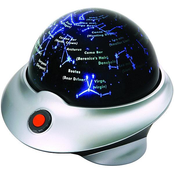 Планетарий, Edu-ToysПланетарии<br>Оригинальная обучающая игрушка Планетарий, Edu-Toys совмещает в себе сразу две функции: это мини-планетарий, который познакомит Вашего ребенка со звездами и созвездиями и замечательный ночник, под который так приятно засыпать. Планетарий представляет собой сферу на устойчивой подставке, при включении она начинает вращаться и проецировать на потолок изображение звездного неба. Плывущие по ночному небу звезды и планеты выглядят очень реалистично и создают впечатляющие визуальные эффекты. Вращение сферы сопровождается рассказом о созвездиях и связанных с ними древних мифах (на английском языке). Включается и выключается игрушка с помощью большой кнопки на корпусе, громкость звука можно регулировать. В комплекте также имеется лазерный указатель, которым ваш ребенок сможет играть и указывать на звезды во время обучения.<br><br>Дополнительная информация:<br><br>- В комплекте: планетарий-ночник, лазерный указатель, CyberSky CD диск с программой для изучения звездного неба, инструкция.<br>- Диаметр планетария: 18 см. <br>- Требуются батарейки: для планетария - 4 х АА (в комплект не входят), для лазерного указателя - 2 х АА (в комплект не входят).<br>- Размер упаковки: 25,5 х 24,5 х 18,5 см.<br>- Вес: 0,87 кг.<br><br>Планетарий, Edu-Toys, можно купить в нашем интернет-магазине.<br>Ширина мм: 255; Глубина мм: 245; Высота мм: 185; Вес г: 870; Возраст от месяцев: 96; Возраст до месяцев: 144; Пол: Унисекс; Возраст: Детский; SKU: 4013706;