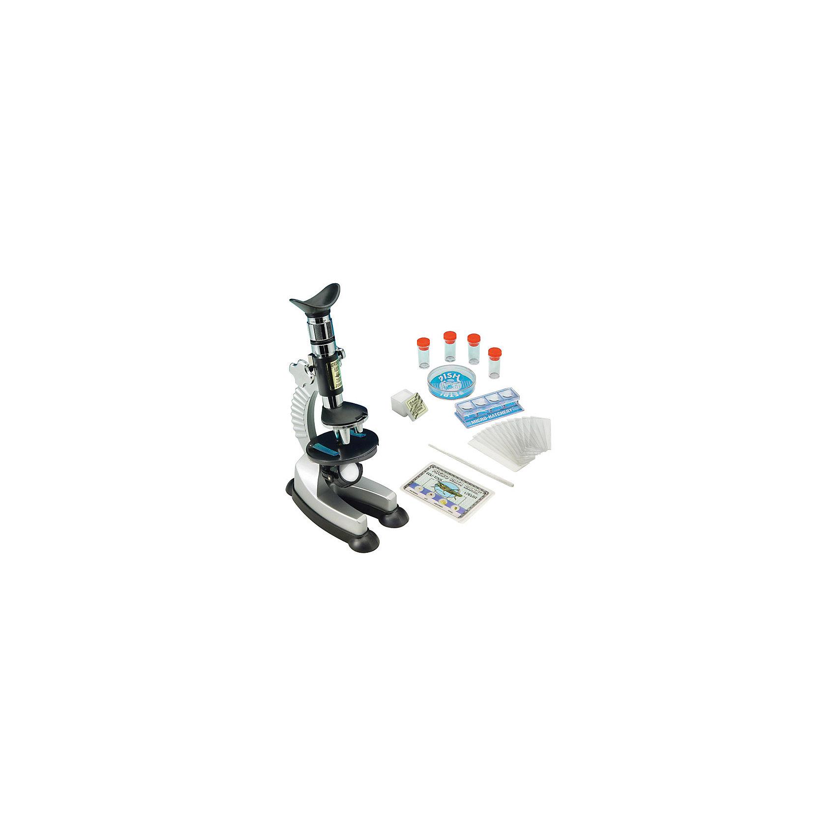 Микроскоп 100*750, Edu-ToysМикроскоп, Edu-Toys - компактный детский микроскоп, который замечательно подойдет для первого знакомства Вашего ребенка с микромиром. Микроскоп оснащен револьверной головкой с тремя объективами, которые обеспечивают плавную смену увеличений от 100 до 750 крат. Специальное колесико фокусировки поможет наладить нужную резкость, а с помощью зеркала-отражателя Вы сможете настроить необходимое освещение для изучения препарата. Если яркости недостаточно, можно воспользоваться встроенной подсветкой, расположенной у основания прибора.<br><br>Прибор оснащен специальным предметным столиком круглой формы с лапками-держателями для микропрепаратов. Устойчивое основание микроскопа гарантирует сохранность препарата во время работы. Микроскоп также выполняет функцию проектора: направив его на белую гладкую поверхность в темной комнате, можно просматривать слайды с микропрепаратами в увеличенном виде. В комплект также входит набор аксессуаров, с помощью которых можно самостоятельно готовить микропрепараты и проводить увлекательные опыты и наблюдения. Занятия с микроскопом способствуют формированию у ребенка научного подхода, расширяют кругозор, развивают любознательность и внимательность.<br><br>Дополнительная информация:<br><br>- В комплекте: микроскоп MS701, готовый микропрепарат, мини-нож для изготовления препаратов, 12 предметных стекол, 12 покровных стекол, 12 этикеток для препаратов, 4<br>  пробирки, стеклянная палочка для перемешивания, чашка Петри, запасная лампочка, инструкция. <br>- Материал: металл, пластик, стекло.<br>- Для подсветки требуются батарейки: 2 х АА (не входят в комплект).<br>- Высота: 23 см.<br>- Размер микроскопа: 15 х 10 х 23 см.<br>- Вес: 0,7 кг.<br><br>Микроскоп 100*750, Edu-Toys, можно купить в нашем интернет-магазине.<br><br>Ширина мм: 300<br>Глубина мм: 95<br>Высота мм: 350<br>Вес г: 700<br>Возраст от месяцев: 96<br>Возраст до месяцев: 144<br>Пол: Унисекс<br>Возраст: Детский<br>SKU: 4013716