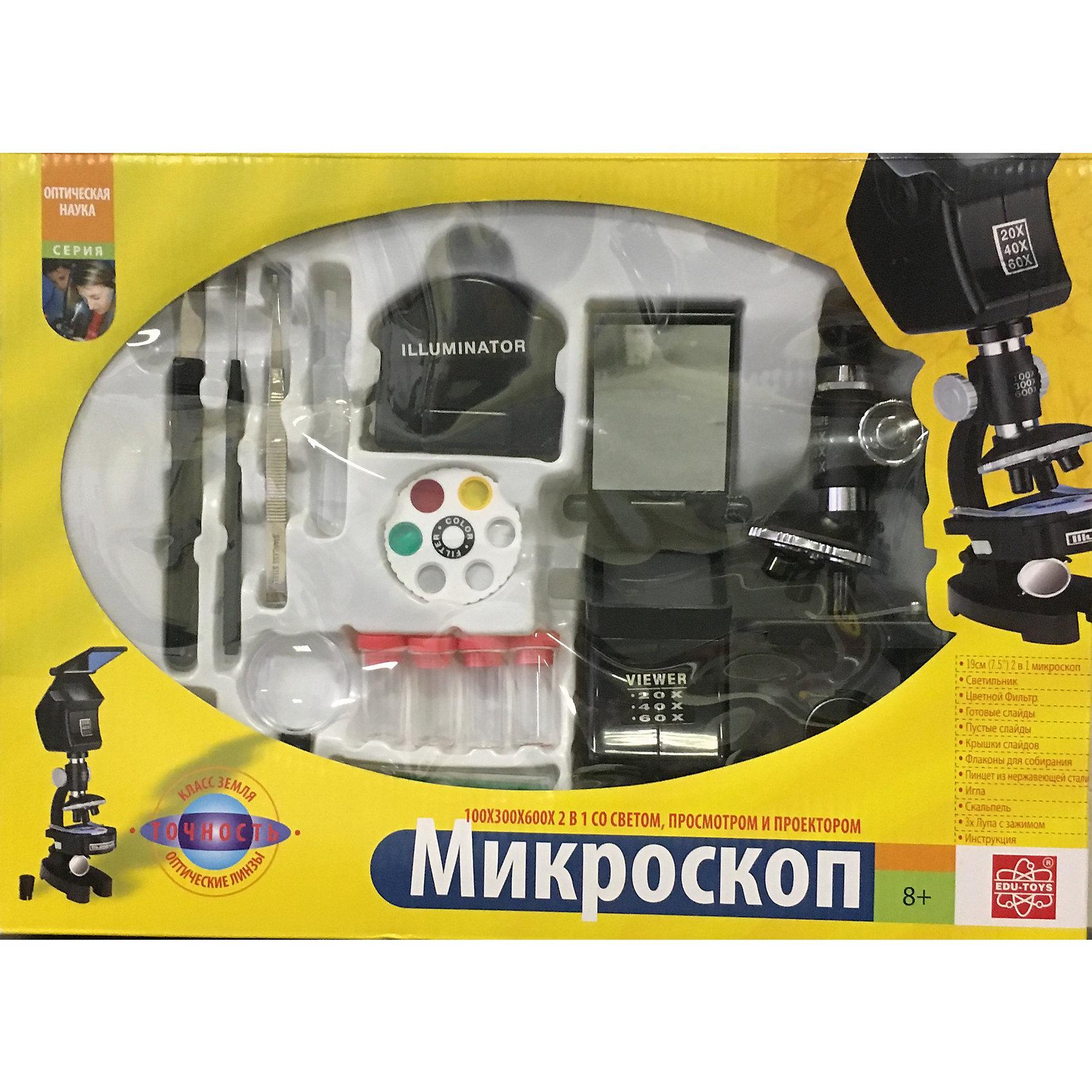 Микроскоп 100х300х600х, Edu-Toys от myToys