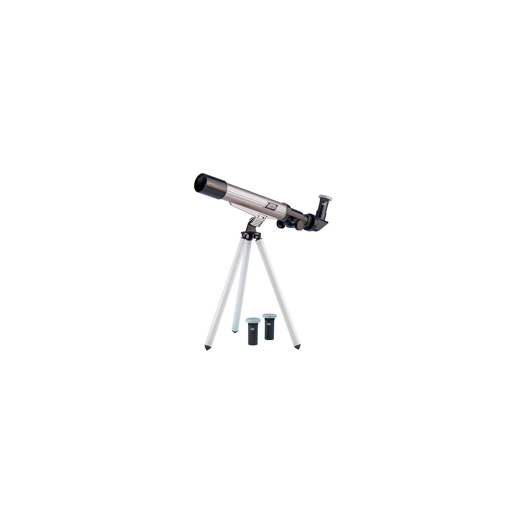 Телескоп 20*30*40, Edu-ToysДетские телескопы<br>Телескоп, Edu-Toys, станет замечательным помощником для юного исследователя и поможет вести увлекательные наблюдения за окружающим миром и звездным небом. Прибор представляет собой металлический корпус, который следует закрепить на штативе-треноге. Сменные окулярами с увеличением 20х, 30х, 40х дают возможность вести наблюдение за разными типами объектов. Специальная ручка регулировки поможет наладить нужную резкость и сделать наблюдаемый объект четче, имеется диагональное зеркало.  <br><br>Дополнительная информация:<br><br>- Материал: металл, пластик. <br>- Длина корпуса телескопа: 25 см.<br>- Высота штатива: 41 см.<br>- Диаметр объектива: 30 мм.<br>- Окуляры: 20х, 30х, 40х.  <br>- Фокусируемая длина: 500 мм.<br>- Размер упаковки: 17,8 х 7,5 х 45,8 см.<br>- Вес: 0,608 кг.<br><br>Телескоп 20*30*40, Edu-Toys, можно купить в нашем интернет-магазине.<br><br>Ширина мм: 458<br>Глубина мм: 75<br>Высота мм: 178<br>Вес г: 608<br>Возраст от месяцев: 96<br>Возраст до месяцев: 144<br>Пол: Унисекс<br>Возраст: Детский<br>SKU: 4013732
