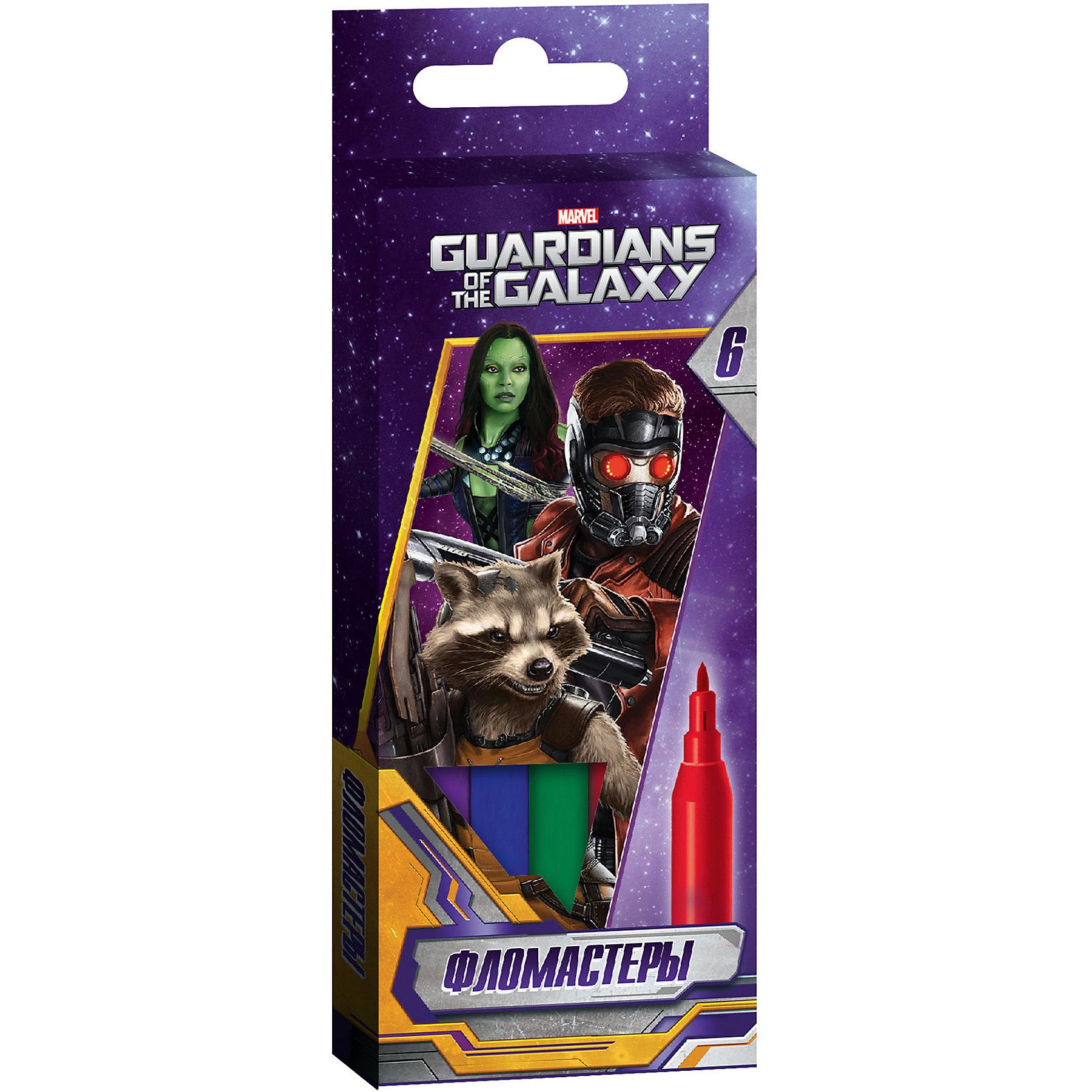 Фломастеры 6 цветов, Marvel Стражи Галактики