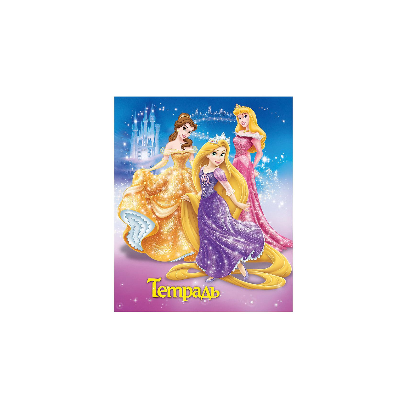 Тетрадь А5 в клетку 18л, Принцессы Дисней