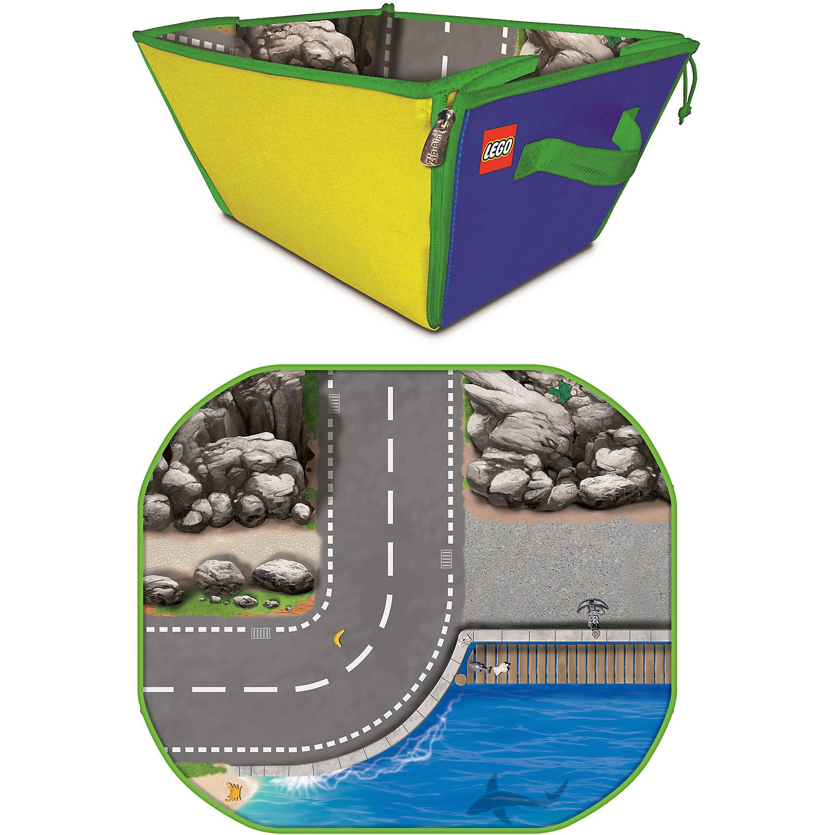 Коробка для хранения - игровое поле LEGOКоробка-коврик для игр, LEGO (ЛЕГО) - прекрасный подарок малышу и маме одновременно. Помимо того, что в коробке можно удобно хранить минифигурки и конструкторы LEGO (ЛЕГО), также можно раскладывать ее в качестве игрового поля в виде трассы. Коробка очень вместительная и удобная, в ней все продумано, чтобы мама могла меньше убирать, а маленький любитель конструкторов LEGO (ЛЕГО) мог сам с удовольствием убирать после себя игрушки. У коробки удобные ручки для переноски и молнии по бокам, помогающие превратить коробку в фантазийный игровой коврик. Качество коробки, как и всей продукции LEGO (ЛЕГО) на высоте, поэтому удобный аксессуар прослужит Вам очень долго!<br><br>Дополнительная информация:<br><br>- Прочная коробка на молнии;<br>- Ручки для переноски;<br>- Помогает приучить малыша к порядку;<br>- Решает проблему хранения;<br>- Материалы: 50 % полипропилен, 50 % картон;<br>- Привлекательный дизайн;<br>- Размер коробки: 32 х 42 х 20 см;<br>- Вес: 286 г<br><br>Коробку для хранения - игровое поле, LEGO (ЛЕГО) можно купить в нашем интернет-магазине.<br><br>Ширина мм: 320<br>Глубина мм: 420<br>Высота мм: 200<br>Вес г: 286<br>Возраст от месяцев: 36<br>Возраст до месяцев: 180<br>Пол: Мужской<br>Возраст: Детский<br>SKU: 4015185