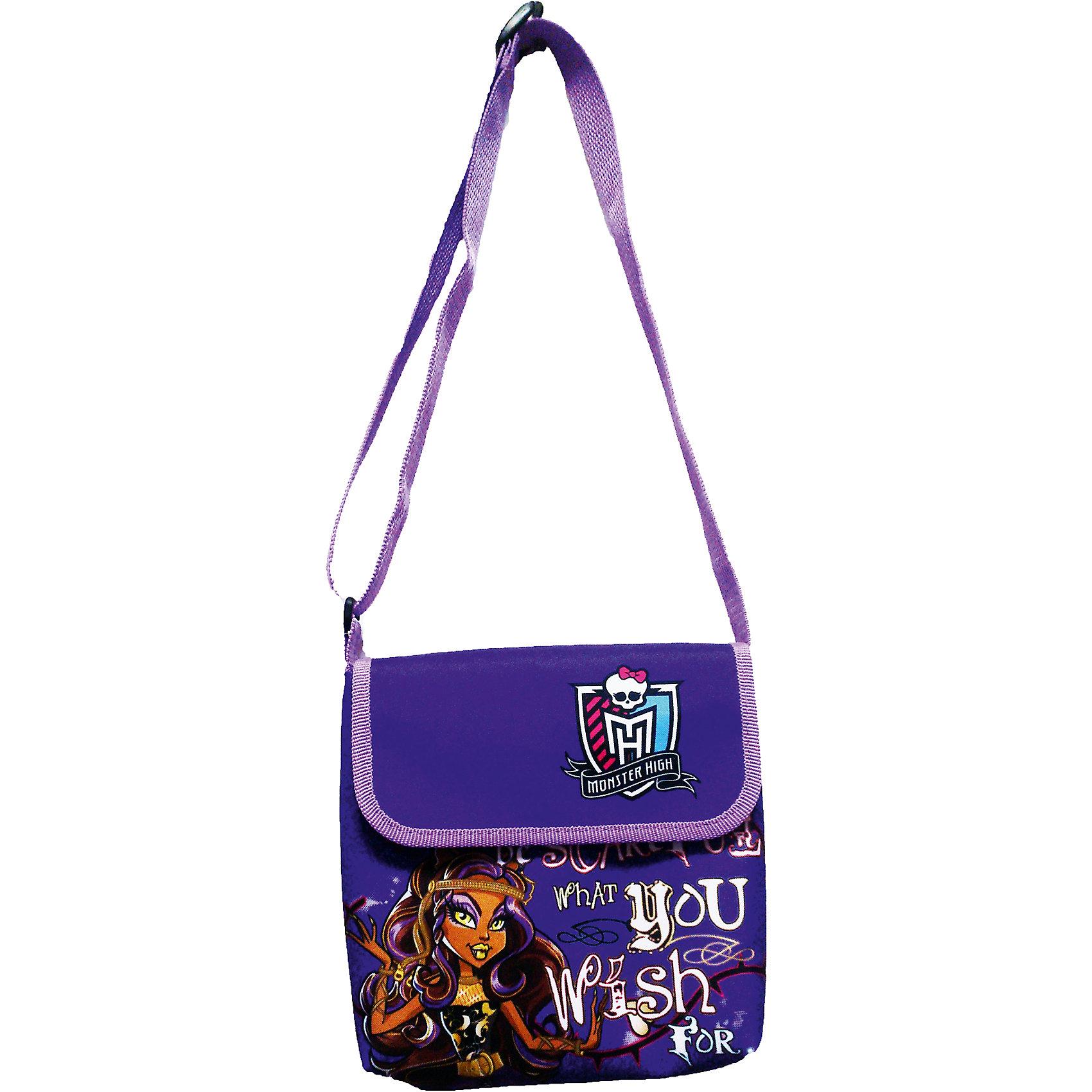 Фиолетовая сумка с клапаном, Monster HighФиолетовая сумка с клапаном, Monster High (Монстр Хай) – это стильный аксессуар для вашей девочки, поклонницы Школы монстров.<br>Яркая и модная сумка Monster High (Школа Монстров) обязательно понравится Вашей девочке. Она будет в восторге от сумочки с изображением героини из мультсериала Школа монстров. Сумка через плечо имеет длинную регулируемую ручку с металлической пряжкой. Сверху сумка закрывается клапаном.<br><br>Дополнительная информация:<br><br>- Материал: габардин, полиэстер<br>- Цвет: фиолетовый<br>- Размер упаковки: 45х180х185 мм.<br><br>Фиолетовую сумку с клапаном, Monster High (Монстер Хай) можно купить в нашем интернет-магазине.<br><br>Ширина мм: 45<br>Глубина мм: 180<br>Высота мм: 185<br>Вес г: 50<br>Возраст от месяцев: 36<br>Возраст до месяцев: 156<br>Пол: Женский<br>Возраст: Детский<br>SKU: 4017781
