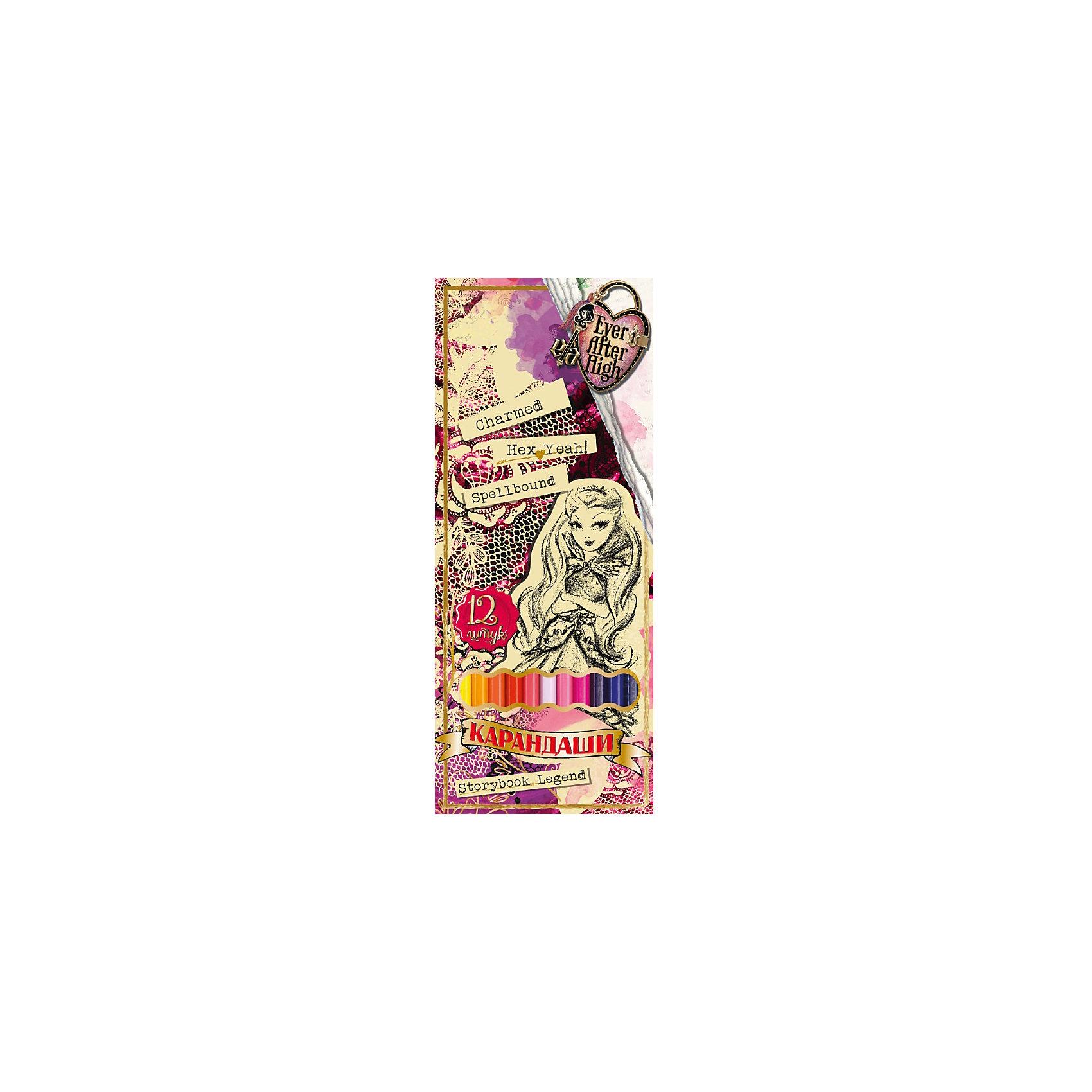 Цветные карандаши (12 цветов), Ever after HighЦветные карандаши (12 цветов), Ever after High (Эвер Афтер Хай) – замечательный подарок для юной поклоннице мультсериала «Ever after High».<br>Отличное качество и насыщенные цвета карандашей Ever after High (Долго и счастливо) помогут вашей доченьке передать свои фантазии и идеи на бумаге. Карандаши упакованы в красивую коробку с изображениями героинь из любимого мультфильма Ever after High(Эвер Афтер Хай).<br><br>Дополнительная информация:<br><br>- В наборе: карандаши 12 цветов<br>- Длина карандаша: 177 мм.<br>- Размер упаковки: 205 х 90 х 10 мм.<br>- Вес: 71 гр.<br><br>Цветные карандаши (12 цветов), Ever after High (Эвер Афтер Хай) можно купить в нашем интернет-магазине.<br><br>Ширина мм: 10<br>Глубина мм: 90<br>Высота мм: 205<br>Вес г: 71<br>Возраст от месяцев: 36<br>Возраст до месяцев: 168<br>Пол: Женский<br>Возраст: Детский<br>SKU: 4017807
