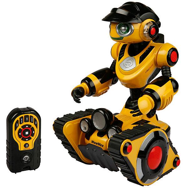 Роборовер 8515,  WowWeeРоботы<br>Мечта любого ребенка - настоящий робот, который может двигаться и выполнять команды. Роборовер 8515,  WowWee - бесстрашный путешественник на гусеничном ходу, преодолевающий любые препятствия. Робот говорит на русском языке, если на пути ему встретится что-то непонятное, он вытянется и наклонит голову на бок, как бы раздумывая, куда двигаться дальше. Настоящая фара, включающаяся с пульта ДУ осветит путь даже в темноте. Установите функцию преследования и Роборовер будет ходить за вами по пятам, не оставляя ни на минуту. Робот имеет подвижные руки, а глаза и рот во время разговоров весело мигают подсветкой мимики. Чем больше времени вы проводите со своим роботом, тем больше он привыкает к вам, становится разговорчивым и открытым (режим личности). <br><br>Дополнительная информация:<br><br>- Материал: пластик, металл.<br>- Высота: 35 см.<br>- Говорит по-русски.<br>- Режим сторожа.<br>- Режим преследования.<br>- Функция исследования.<br>- Подвижные руки.<br>- На гусеничном ходу, объезжает препятствия.<br>- Управление с пульта ДУ.<br>- Элемент питания: для робота - 4 батарейки С; для пульта ДУ 3 батарейки ААА ( не входят в комплект).<br>- Звуковые эффекты.<br>- Световые эффекты. <br>- Комплектация: робот, пульт управления, инструкция.<br><br>Роборовера 8515,  WowWee можно купить в нашем магазине.<br>Ширина мм: 280; Глубина мм: 300; Высота мм: 400; Вес г: 3100; Возраст от месяцев: 72; Возраст до месяцев: 144; Пол: Мужской; Возраст: Детский; SKU: 4018274;
