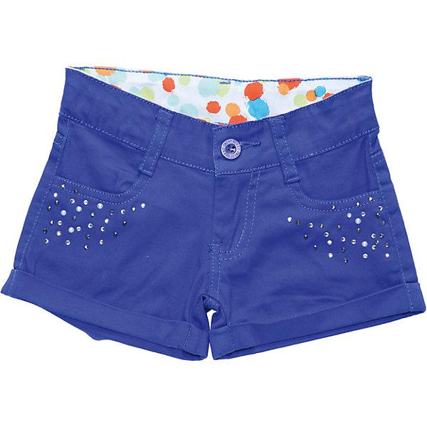 Шорты для девочки Sweet BerryШорты, бриджи, капри<br>Модные шорты из хлопковой ткани. Изнаночная сторона пояса выполнена из декоративной ткани с ярким принтом.<br>Состав:<br>98% хлопок 2% эластан<br><br>Ширина мм: 191<br>Глубина мм: 10<br>Высота мм: 175<br>Вес г: 273<br>Цвет: синий<br>Возраст от месяцев: 36<br>Возраст до месяцев: 48<br>Пол: Женский<br>Возраст: Детский<br>Размер: 104,122,110,116,128,98<br>SKU: 4019377