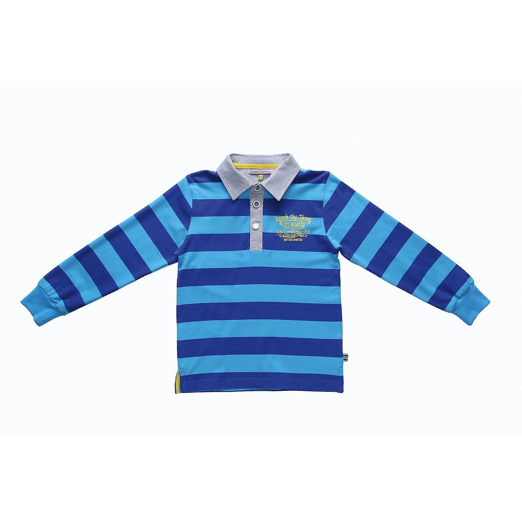 Sweet Berry Футболка-поло с длинным рукавом для мальчика Sweet Berry футболка с длинным рукавом для мальчика barkito трактор красная