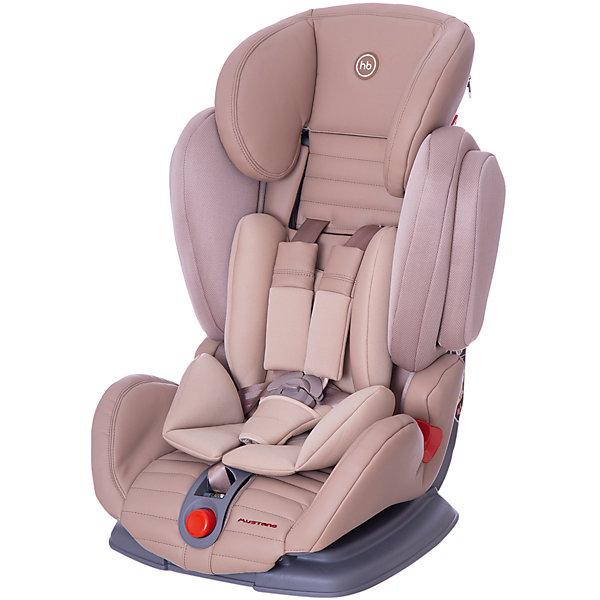Автокресло Happy Baby Mustang, 9-36 кг, бежевыйГруппа 1-2-3  (от 9 до 36 кг)<br>Автокресло Mustang, 9-36 кг., Happy Baby (Хэппи Беби), бежевый – это безупречное качество, надёжность и комфорт для вашего ребенка.<br>Уникальность автокресла MUSTANG в том, что оно регулируется по ширине. <br>Глубокая усиленная боковая защита будет предохранять ребенка, в случае непредвиденных дорожных ситуаций. Анатомическая конструкция спинки и сиденья, позволяет использовать кресло даже в дальних поездках. Каркасный эргономичный подголовник обеспечит дополнительную безопасность и подарит комфорт, благодаря мягкому чехлу и многоступенчатой регулировке по высоте, в зависимости от роста ребёнка. Мягкий чехол автокресла и дополнительный дышащий матрасик-вкладыш создаёт дополнительный комфорт. <br>Кресло имеет 4 угла наклона и оснащено удобным механизмом регулировки. Пятиточечные ремни безопасности, регулируются, соответственно росту и весу ребёнка, снабжены центральным замком, благодаря которому родителям не составит никакого труда, как пристегнуть в кресле главного пассажира, так и отстегнуть. Замок оснащён защитным фиксатором, который предохраняет его от случайного расстёгивания.  Автокресло крепится с помощью трёхточечных ремней безопасности. В зависимости от возраста ребёнка устанавливается лицом по ходу или против движения автомобиля.<br><br>Дополнительная информация:<br><br>- Модель соответствует Европейским стандартам безопасности ECE R44/04, имеет высокие показатели краш-тестов<br>- Группа I-2-3<br>- Пятиточечные ремни безопасности с мягкими накладками<br>- Анатомическое сидение просторное и комфортное<br>- Регулируемый по высоте подголовник обеспечивающий защиту головы<br>- 4 положения наклона спинки<br>- Удобные подлокотники<br>- Анатомический вкладыш<br>- Пластиковые направляющие для автомобильных ремней безопасности<br>- Усиленная боковая защита<br>- Ребенок фиксируется внутренними ремнями безопасности (до 18 кг), штатными автомобильными ремнями безопасности (от 18 кг)<br>- О