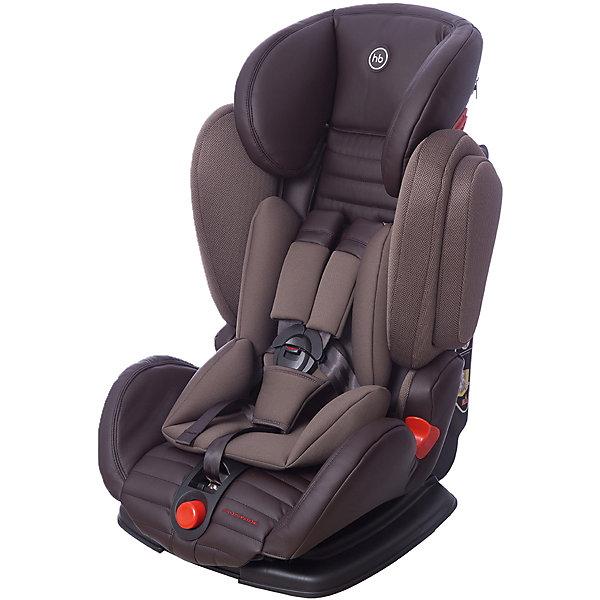 Автокресло Happy Baby Mustang, 9-36 кг, темно-коричневыйГруппа 1-2-3  (от 9 до 36 кг)<br>Автокресло Mustang, 9-36 кг., Happy Baby (Хэппи Беби), чёрный – это безупречное качество, надёжность и комфорт для вашего ребенка.<br>Уникальность автокресла MUSTANG в том, что оно регулируется по ширине. <br>Глубокая усиленная боковая защита будет предохранять ребенка, в случае непредвиденных дорожных ситуаций. Анатомическая конструкция спинки и сиденья, позволяет использовать кресло даже в дальних поездках. Каркасный эргономичный подголовник обеспечит дополнительную безопасность и подарит комфорт, благодаря мягкому чехлу и многоступенчатой регулировке по высоте, в зависимости от роста ребёнка. Мягкий чехол автокресла и дополнительный дышащий матрасик-вкладыш создаёт дополнительный комфорт. <br>Кресло имеет 4 угла наклона и оснащено удобным механизмом регулировки. Пятиточечные ремни безопасности, регулируются, соответственно росту и весу ребёнка, снабжены центральным замком, благодаря которому родителям не составит никакого труда, как пристегнуть в кресле главного пассажира, так и отстегнуть. Замок оснащён защитным фиксатором, который предохраняет его от случайного расстёгивания.  Автокресло крепится с помощью трёхточечных ремней безопасности. В зависимости от возраста ребёнка устанавливается лицом по ходу или против движения автомобиля.<br><br>Дополнительная информация:<br><br>- Модель соответствует Европейским стандартам безопасности ECE R44/04, имеет высокие показатели краш-тестов<br>- Группа I-2-3<br>- Пятиточечные ремни безопасности с мягкими накладками<br>- Анатомическое сидение просторное и комфортное<br>- Регулируемый по высоте подголовник обеспечивающий защиту головы<br>- 4 положения наклона спинки<br>- Удобные подлокотники<br>- Анатомический вкладыш<br>- Пластиковые направляющие для автомобильных ремней безопасности<br>- Усиленная боковая защита<br>- Ребенок фиксируется внутренними ремнями безопасности (до 18 кг), штатными автомобильными ремнями безопасности (от 18 кг