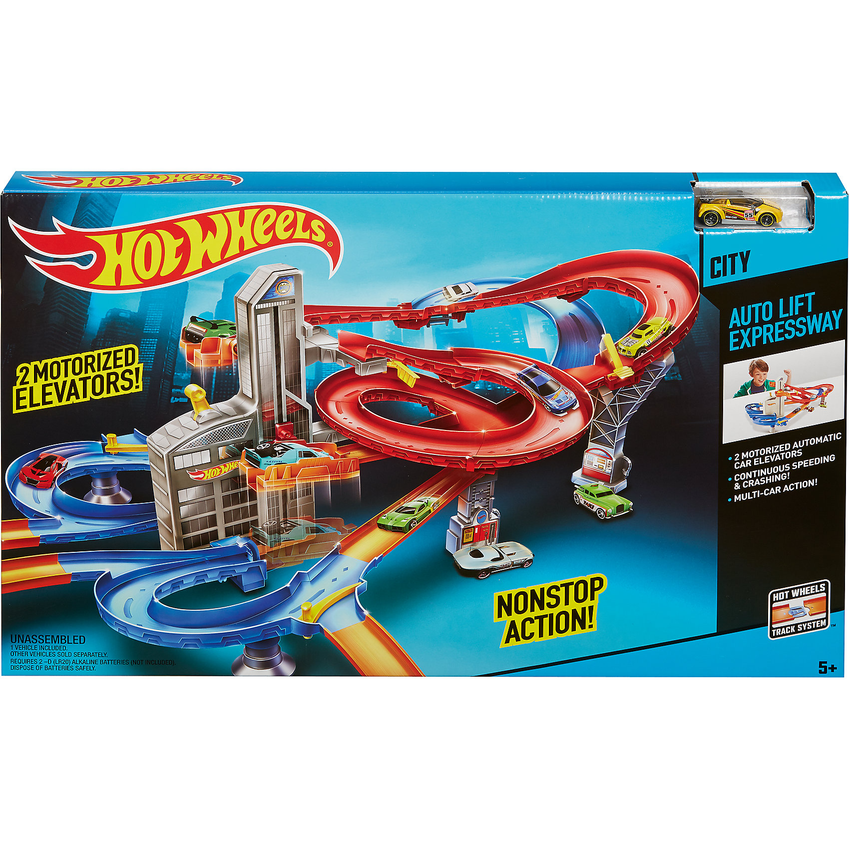Mattel, Автотрек auto-lift expressway, hot wheels