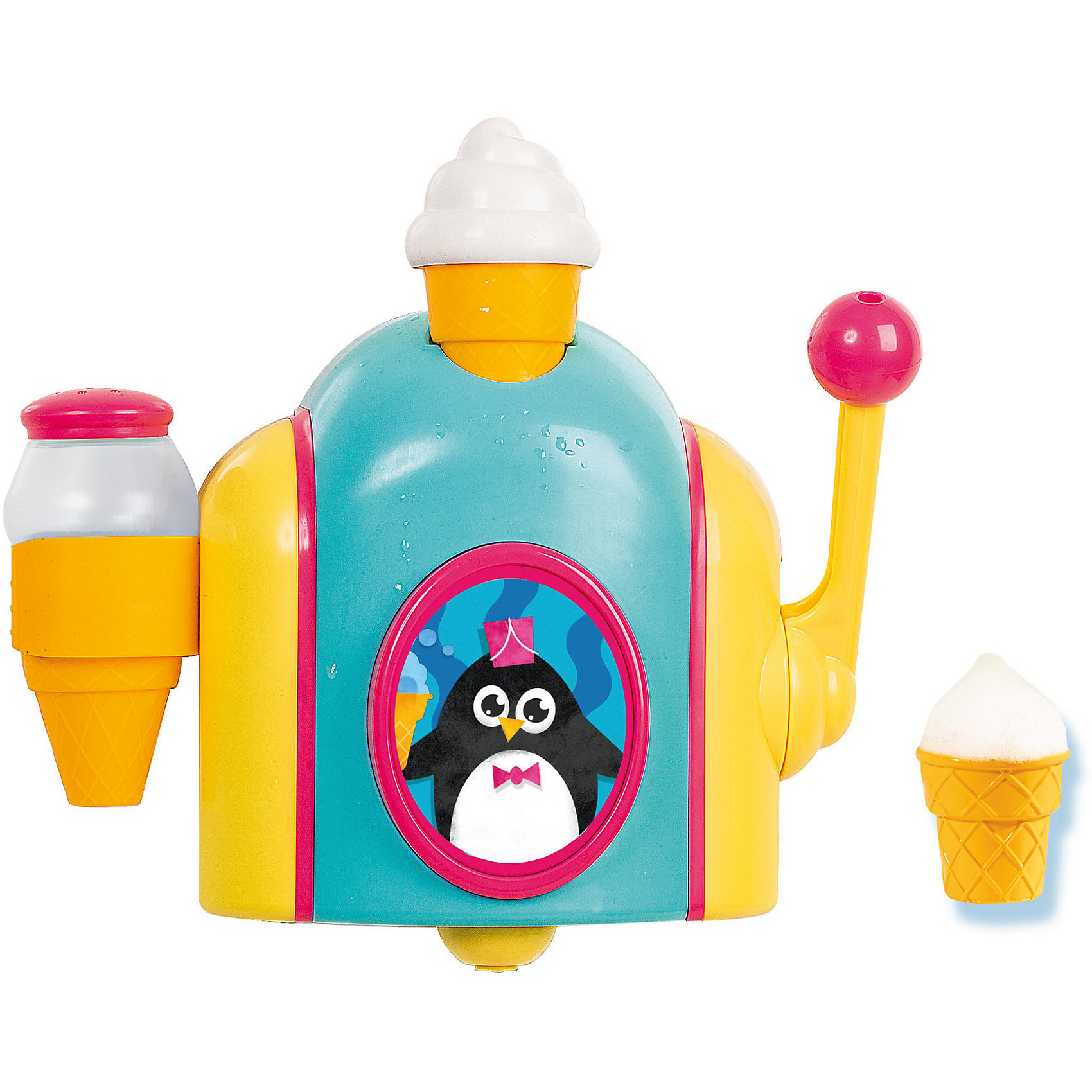 Игрушка для ванной Фабрика пены, TOMYИгрушка для ванной Фабрика пены, TOMY (ТОМИ) – эта игрушка сделает купание Вашего малыша весёлым и увлекательным!<br>Игрушка для ванной «Фабрика пены» от TOMY (ТОМИ) научит малыша делать мороженое прямо во время купания! Прикрепите игрушку к стене ванной комнаты, залейте в нее немного детского шампуня или геля для душа, разбавленного водой, и «запустите производство»! Для этого достаточно потянуть рычажок, и маленький стаканчик наполнится пеной – мороженое готово! Не забудьте сверху присыпать его «тертым шоколадом» или «корицей». Игрушка развивает воображение ребенка и положительно влияет на формирование мелкой моторики.<br><br>Дополнительная информация:<br><br>- В комплекте с игрушкой: 3 стаканчика, шейкер-«солонка»<br>- Крепится на прочных присосках<br>- Материал: высококачественный пластик<br>- Размер упаковки: 28,3 х 27,5 х 12,7 см.<br>- Вес: 740 гр.<br><br>Игрушку для ванной Фабрика пены, TOMY (ТОМИ) можно купить в нашем интернет-магазине.<br><br>Ширина мм: 291<br>Глубина мм: 291<br>Высота мм: 129<br>Вес г: 775<br>Возраст от месяцев: 18<br>Возраст до месяцев: 36<br>Пол: Унисекс<br>Возраст: Детский<br>SKU: 4023865