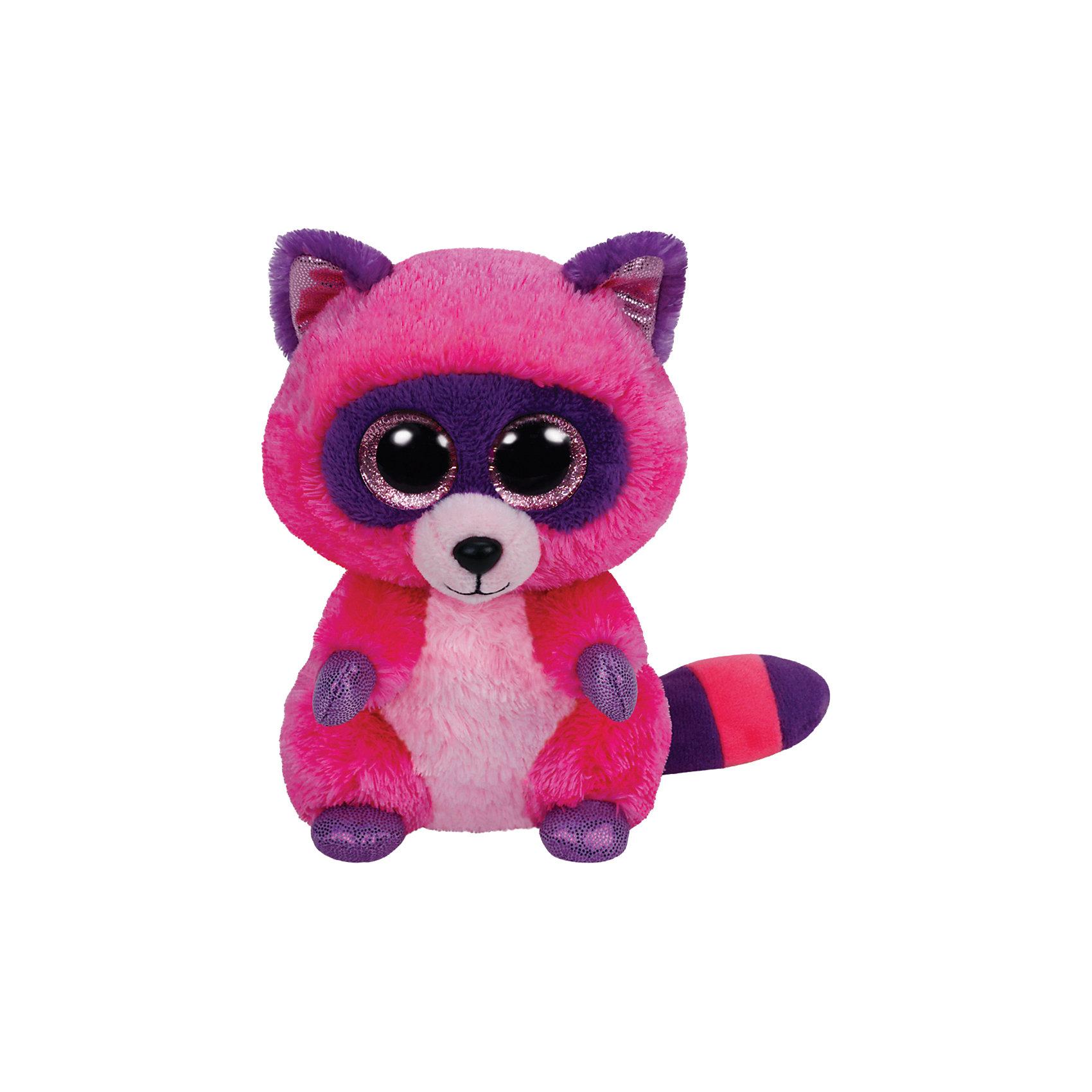 Мягкая игрушка Енот Roxie, 25 см, Beanie Boos, TyМягкая игрушка Енот Roxie, 25 см, Beanie Boos, Ty (Тай)<br><br>Характеристики:<br><br>• способствует развитию мелкой моторики<br>• приятный на ощупь<br>• высота игрушки: 25 см<br>• не содержит токсичных материалов, опасных для здоровья ребёнка<br>• материал: текстиль, искусственный мех, пластик <br>• наполнитель: синтепон<br>• вес: 300 грамм<br><br>Енот Roxie очень мягкий и нежный. Его розово-фиолетовая окраска и большие блестящие глазки понравятся и детям, и взрослым. Игрушка изготовлена из прочных материалов, безопасных для здоровья ребенка. Способствует развитию речевых и тактильных навыков, мелкой моторики. Roxie станет верным другом для вашего ребенка!<br><br>Мягкую игрушку Енот Roxie, 25 см, Beanie Boos, Ty (Тай) вы можете купить в нашем интернет-магазине.<br><br>Ширина мм: 240<br>Глубина мм: 144<br>Высота мм: 109<br>Вес г: 204<br>Возраст от месяцев: 12<br>Возраст до месяцев: 60<br>Пол: Женский<br>Возраст: Детский<br>SKU: 4023886