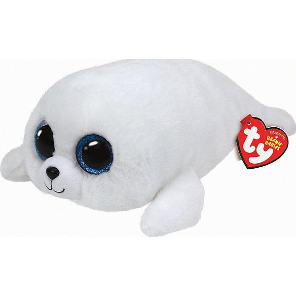 Белый тюлень Icing, 25 смМягкие игрушки животные<br>Белый тюлень Icing, 25 см – игрушка от бренда TY Inc (ТАЙ Инкорпорейтед), знаменитого своими мягкими игрушками, в качестве наполнителя для которых используются гранулы. Тюлень выполнен из качественного и гипоаллергенного плюша с ворсом белоснежного цвета. У игрушки большие выразительные глаза. Используемые материалы делают игрушку прочной, устойчивой к изменению цвета и формы, ее разрешается стирать.<br>Белый тюлень Icing, 25 см TY Inc непременно станет любимой игрушкой для вашего ребенка, а уникальный наполнитель будет способствовать  не  только развитию мелкой моторики пальцев, но и оказывать релаксирующее воздействие. <br><br>Дополнительная информация:<br><br>- Вид игр: сюжетно-ролевые игры, интерьерные игрушки, для коллекционирования<br>- Предназначение: для дома<br>- Материал: плюш, пластик, наполнитель ? гранулы<br>- Высота: 25 см<br>- Особенности ухода: разрешается стирка<br><br>Подробнее:<br><br>• Для детей в возрасте: от 12 месяцев и до 5 лет <br>• Страна производитель: Китай<br>• Торговый бренд: TY Inc <br><br>Белого тюленя Icing, 25 см можно купить в нашем интернет-магазине.<br><br>Ширина мм: 301<br>Глубина мм: 185<br>Высота мм: 111<br>Вес г: 185<br>Возраст от месяцев: 12<br>Возраст до месяцев: 60<br>Пол: Унисекс<br>Возраст: Детский<br>SKU: 4023915