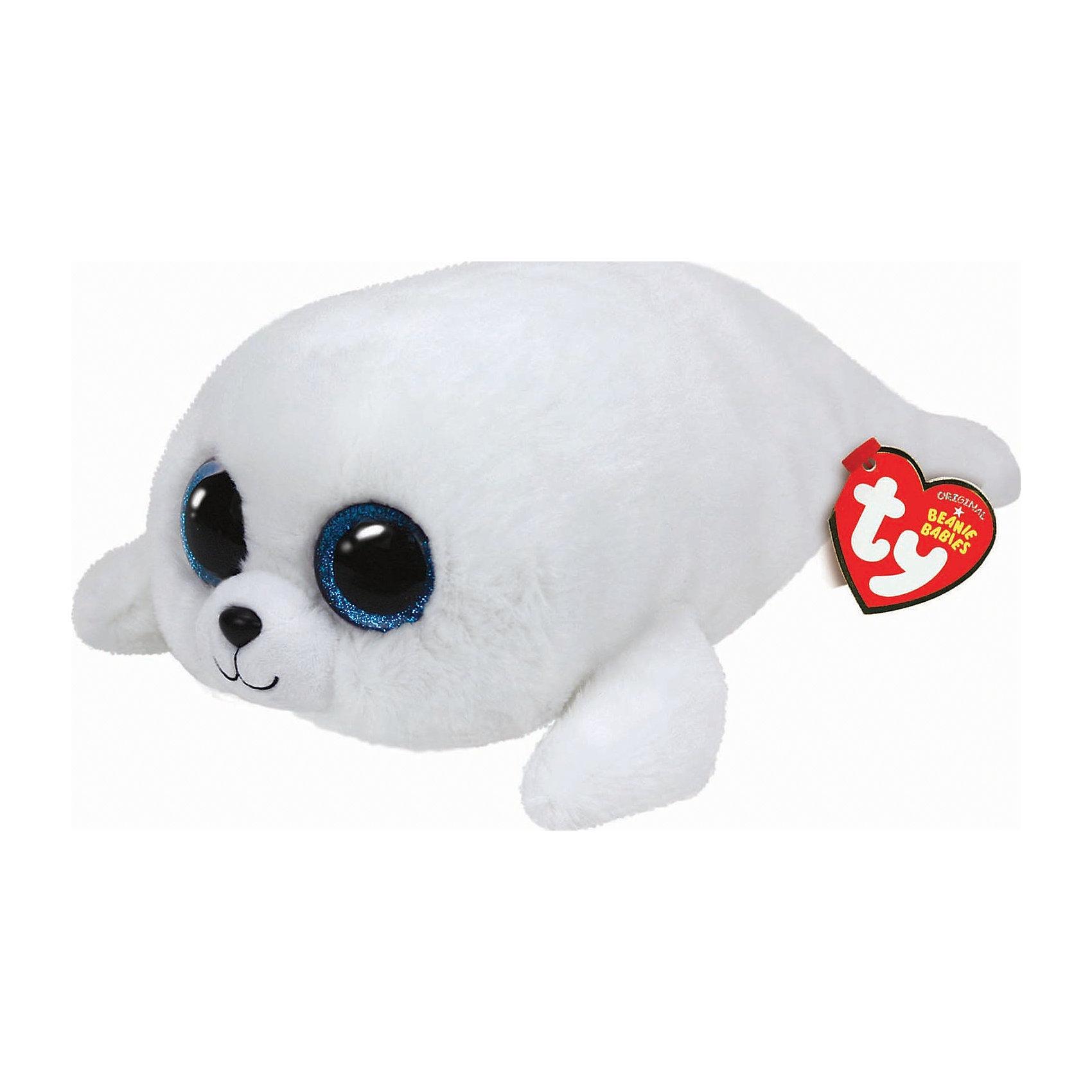 Белый тюлень Icing, 25 смЗвери и птицы<br>Белый тюлень Icing, 25 см – игрушка от бренда TY Inc (ТАЙ Инкорпорейтед), знаменитого своими мягкими игрушками, в качестве наполнителя для которых используются гранулы. Тюлень выполнен из качественного и гипоаллергенного плюша с ворсом белоснежного цвета. У игрушки большие выразительные глаза. Используемые материалы делают игрушку прочной, устойчивой к изменению цвета и формы, ее разрешается стирать.<br>Белый тюлень Icing, 25 см TY Inc непременно станет любимой игрушкой для вашего ребенка, а уникальный наполнитель будет способствовать  не  только развитию мелкой моторики пальцев, но и оказывать релаксирующее воздействие. <br><br>Дополнительная информация:<br><br>- Вид игр: сюжетно-ролевые игры, интерьерные игрушки, для коллекционирования<br>- Предназначение: для дома<br>- Материал: плюш, пластик, наполнитель ? гранулы<br>- Высота: 25 см<br>- Особенности ухода: разрешается стирка<br><br>Подробнее:<br><br>• Для детей в возрасте: от 12 месяцев и до 5 лет <br>• Страна производитель: Китай<br>• Торговый бренд: TY Inc <br><br>Белого тюленя Icing, 25 см можно купить в нашем интернет-магазине.<br><br>Ширина мм: 271<br>Глубина мм: 184<br>Высота мм: 111<br>Вес г: 205<br>Возраст от месяцев: 12<br>Возраст до месяцев: 60<br>Пол: Унисекс<br>Возраст: Детский<br>SKU: 4023915