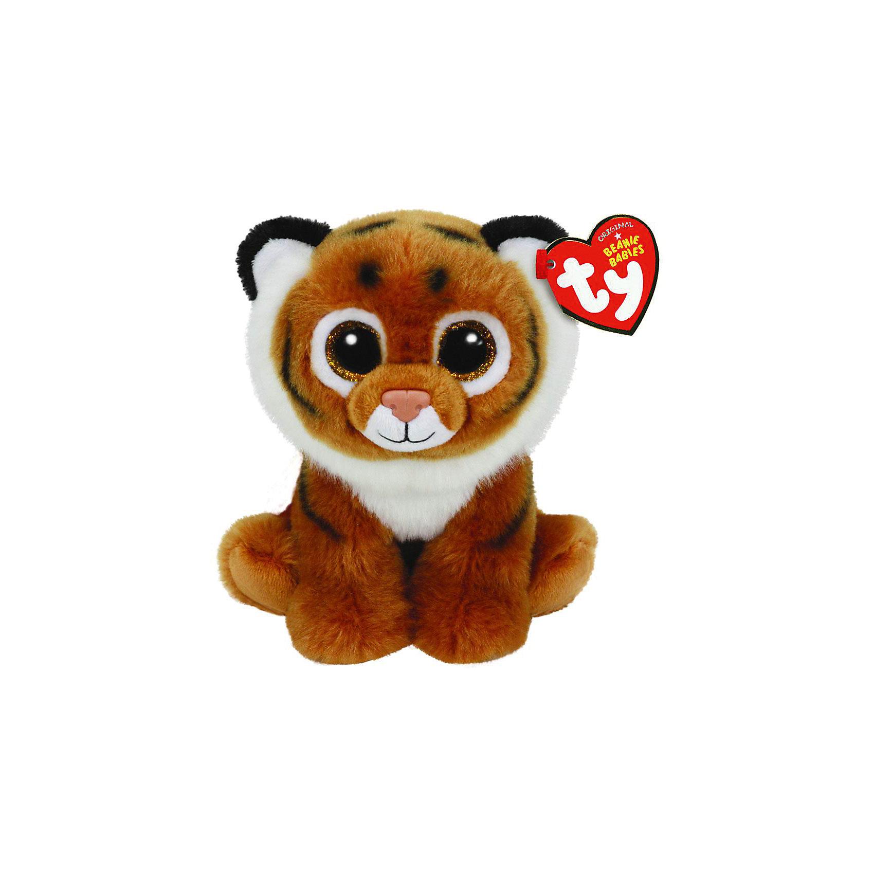 Тигренок Tiggs, 20 смМягкие игрушки животные<br>Тигренок Tiggs, 20 см, звуковые эффекты – игрушка от бренда TY Inc (ТАЙ Инкорпорейтед), знаменитого своими мягкими игрушками, в качестве наполнителя для которых используются гранулы. Тигренок выполнен из качественного и гипоаллергенного плюша рыжего и белого цветов, на который нанесены черные полоски. У игрушки большие выразительные глаза. Используемые материалы делают игрушку прочной, устойчивой к изменению цвета и формы, ее разрешается стирать.<br>Тигренок Tiggs, 20 см, звуковые эффекты TY Inc непременно станет любимой игрушкой для вашего ребенка, а уникальный наполнитель будет способствовать  не  только развитию мелкой моторики пальцев, но и оказывать релаксирующее воздействие. Игрушка оснащена звуковыми эффектами. <br><br>Дополнительная информация:<br><br>- Вид игр: сюжетно-ролевые игры, интерьерные игрушки, для коллекционирования<br>- Предназначение: для дома<br>- Материал: плюш, наполнитель ? гранулы<br>- Высота: 20 см<br>- Особенности ухода: разрешается стирка<br><br>Подробнее:<br><br>• Для детей в возрасте: от 12 месяцев и до 5 лет <br>• Страна производитель: Китай<br>• Торговый бренд: TY Inc <br><br>Тигренка Tiggs, 20 см, звуковые эффекты можно купить в нашем интернет-магазине.<br><br>Ширина мм: 168<br>Глубина мм: 101<br>Высота мм: 88<br>Вес г: 105<br>Возраст от месяцев: 12<br>Возраст до месяцев: 60<br>Пол: Унисекс<br>Возраст: Детский<br>SKU: 4023930