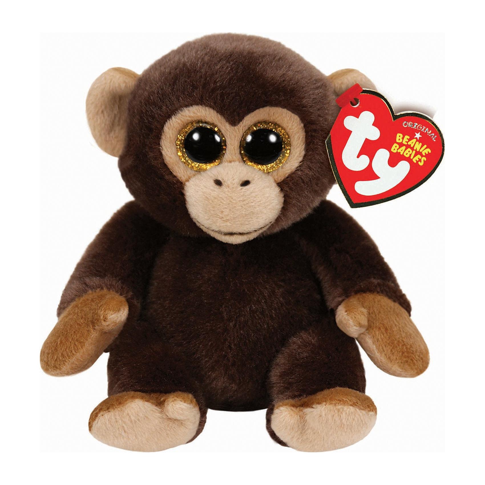 Обезьянка Bananas, 20 см, TyОчаровательная мягкая обезьянка не оставит равнодушным ни одного ребенка! Обезьянка входит в коллекцию малышей Beanie Babies от компании TY. Все игрушки этой серии имеют день рождения и свой милый стишок, написанный на этикетке. Обезьянка выполнена из высококачественных гипоаллергенных материалов безопасных для детей. День рождения у нее 18 августа. <br><br>Дополнительная информация:<br><br>- Материал: искусственный мех, пластик, ПЭ.<br>- Размер: 20 см.<br>- Цвет: коричневый.<br><br>Обезьянку Bananas, 20 см, Ty, можно купить в нашем магазине.<br><br>Ширина мм: 156<br>Глубина мм: 106<br>Высота мм: 96<br>Вес г: 108<br>Возраст от месяцев: 12<br>Возраст до месяцев: 60<br>Пол: Унисекс<br>Возраст: Детский<br>SKU: 4023935