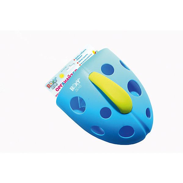 Органайзер для игрушек на присоске, Roxy-Kids, голубойОрганайзеры для игрушек в ванну<br>Органайзер для игрушек на присоске, Roxy-Kids (Рокси-Кидс), голубой предназначен для хранения игрушек и банных принадлежностей Вашего ребенка. Крепится к стенкам ванной комнаты на присоску или крючок, поэтому всегда будет под рукой. Кроме того, с органайзером может играть ребенок постарше, вылавливая игрушки из воды как сачком. Это будет развивать его координацию движений и тактильные навыки. Яркий цвет и дизайн без сомнения привлечет его внимание малыша. <br><br>Характеристики:<br>-Цвет: голубой<br>-Имеет специальную присоску для крепления на стене ванной комнаты и петельку для подвешивания на крючок<br>-Практичная ручка органайзера позволит быстро вылавливать игрушки из воды<br>-Игрушки в органайзере очень удобно мыть под краном и легко сушить<br>-Яркий дизайн привлечет внимание ребенка<br>-Органайзер стимулирует у ребенка тактильные ощущения и координацию движений<br><br>Дополнительная информация:<br>-Размеры в упаковке (ДхШхВ): 240х220х115 мм<br>-Вес в упаковке: 200 г<br>-Материалы: пластик <br><br>Яркий органайзер станет незаменимым помощником маме и просто стильным аксессуаром ванной комнаты!<br><br>Органайзер для игрушек на присоске, Roxy-Kids (Рокси-Кидс), голубой можно купить в нашем магазине.<br>Ширина мм: 240; Глубина мм: 220; Высота мм: 115; Вес г: 200; Цвет: голубой; Возраст от месяцев: 6; Возраст до месяцев: 36; Пол: Мужской; Возраст: Детский; SKU: 4026287;