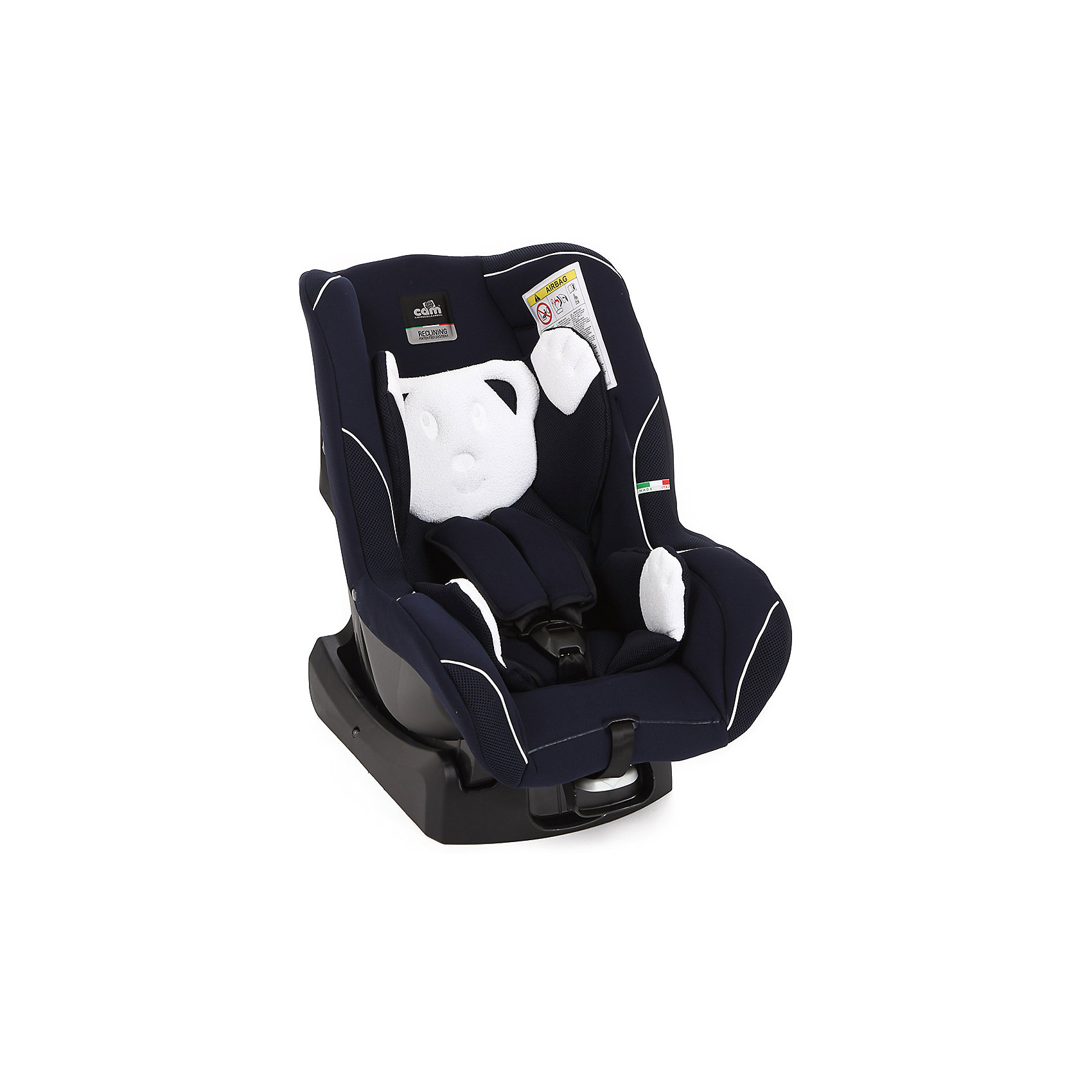 Автокресло CAM с подголовником Auto Gara, 0-18 кг, синийГруппа 0+, 1 (До 18 кг)<br>Автокресло Auto Gara (Авто Гара), 0-18 кг., от CAM (КАМ) - это прекрасный выбор для путешествий малыша с рождения до 3 лет. Благодаря удобным регулировкам кресло подстраивается под меняющиеся потребности растущего малыша. Для новорожденным предусмотрена анатомическая вставка и пять положений наклона спинки, которые обеспечат здоровый и комфортный сон. Подросший малыш будет так же хорошо защищен в кресле благодаря усиленной боковой защите и удобному подголовнику. Вы можете без труда отрегулировать пятиточечные ремни кресла по высоте, чтобы обеспечить высочайший уровень безопасности ребенку любого роста. Не бойтесь испачкать сиденье, чехол из технологичной ткани легко стирается и кресло снова выглядит как новое. Кресло легко установить в машине и закрепить штатными ремнями безопасности: до 9 месяцев против хода движения, послед 9 месяцев по ходу движения автомобиля.<br><br>Дополнительная информация:<br><br>- Группа: 0/1 (от 0 до 18 кг);<br>- Соответствует европейским нормам безопасности ECE R44/04;<br>- Усиленная боковая защита;<br>- Вкладыш для новорожденных;<br>- Пять положений наклона спинки;<br>- Удобный подголовник;<br>- Надежные пятиточечные ремни безопасности;<br>- Регулировка ремней одним движением;<br>- Устанавливается в автомобиле спиной по направлению движения до 9 мес, и по направлению движения после 9 мес;<br>- Съемную обивку можно стирать;<br>- Цвет: синий;<br>- Размер: 64 х 59 х 41 см;<br>- Вес: 5,5 кг<br><br>Автокресло Auto Gara (Авто Гара) , 0-18 кг., CAM (КАМ), синее можно купить в нашем интернет-магазине.<br><br>Ширина мм: 900<br>Глубина мм: 600<br>Высота мм: 420<br>Вес г: 5580<br>Цвет: синий<br>Возраст от месяцев: 0<br>Возраст до месяцев: 48<br>Пол: Унисекс<br>Возраст: Детский<br>SKU: 4026334