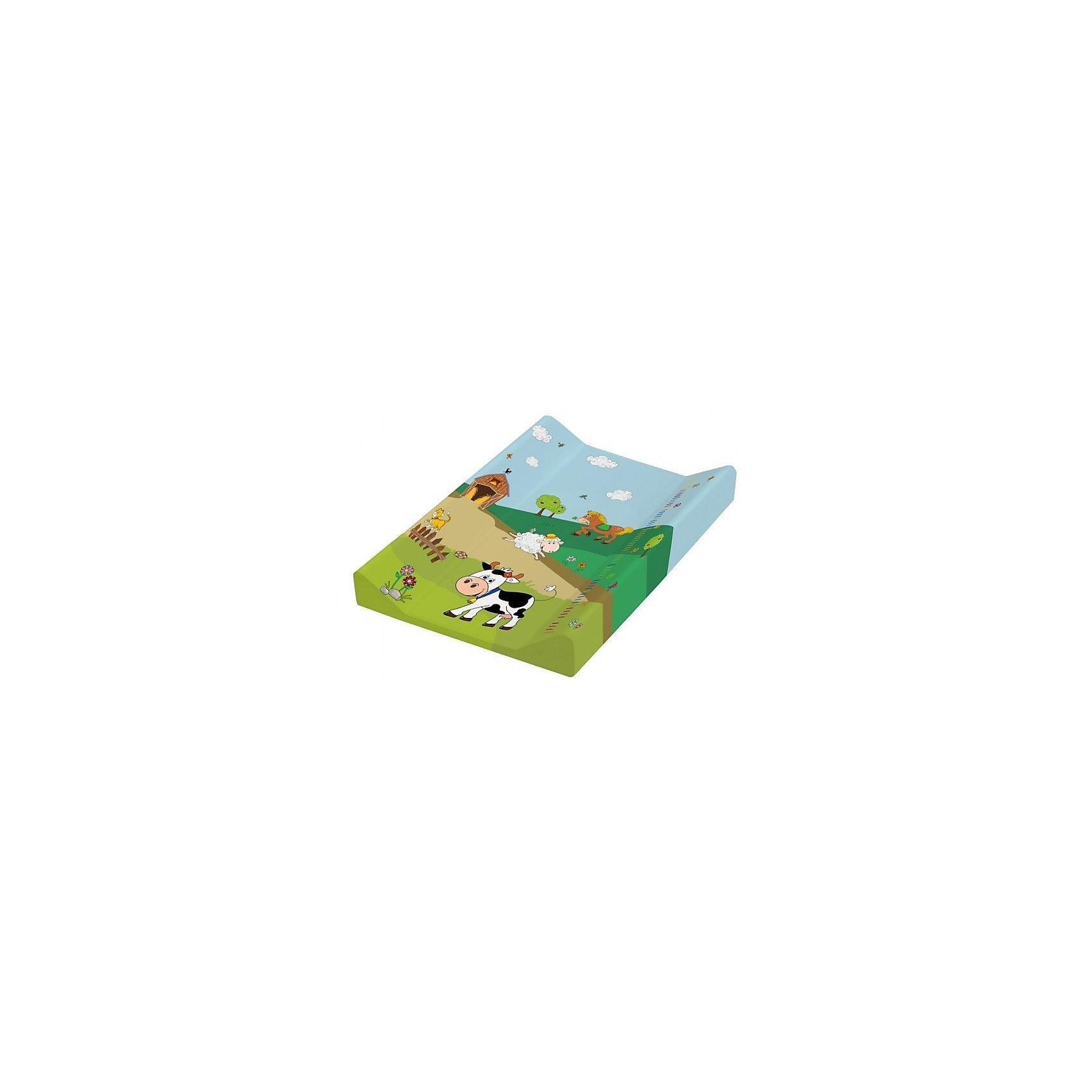 Доска для пеленания Весёлая ферма, OKT, зеленыйПеленание<br>Доска для пеленания Весёлая ферма, превратит ежедневные гигиенические процедуры в веселую игру. Устойчивая доска покрыта водонепроницаемым материалом, поэтому она очень удобна в уходе. Яркая расцветка привлечет малыша и он будет меньше капризничать. Благодаря меркам нанесенным на край доски, Вы легко сможете следить за ростом малыша. Высокие бортики уберегут кроху от соскальзывания, а устойчивое основание позволит Вам расположить доску там, где это необходимо.<br> <br>Дополнительная информация:<br><br>- Экономит место в квартире;<br>- Удобная прямоугольная форма;<br>- Прекрасно подходит для проведения гигиенических процедур и массажа;<br>- Возможность измерения роста;<br>- Водонепроницаемое покрытие;<br>- Высокие бортики для безопасности;<br>- Яркая расцветка;<br>- Цвет: зеленый;<br>- Размер: 70 х 50 х 10 см;<br>- Вес: 2,5 кг<br><br>Доску для пеленания Весёлая ферма, OKT, зеленую можно купить в нашем интернет-магазине.<br><br>Ширина мм: 770<br>Глубина мм: 720<br>Высота мм: 490<br>Вес г: 2563<br>Возраст от месяцев: 0<br>Возраст до месяцев: 12<br>Пол: Унисекс<br>Возраст: Детский<br>SKU: 4026466