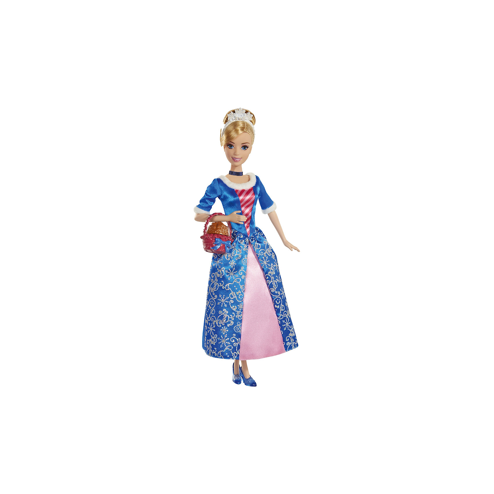 Кукла Золушка со сладостями, Принцессы ДиснейИгрушки<br>Кукла Золушка, Disney Princess (Принцесса Диснея) – это принцесса Золушка с корзиной ароматного имбирного печенья.<br>Милая добрая Золушка героиня одноименной сказки станет прекрасным подарком для малышки. Любимая не одним поколением детей во всем мире Золушка как всегда безупречна и красива. На Золушке — светло-голубое платье, юбка которого украшена серебряными узорами. Верхняя часть платья и рукава обшиты мехом. На голове у куклы высокая прическа из светлых волос и диадема. На ногах - изящные туфли на каблуках. Золушка порадует девочку ароматным игрушечным печеньем, которое пахнет как настоящее лакомство. Печенье находится в красивой корзиночке. У куклы двигаются руки, ноги, поворачивается голова. Ваша малышка с удовольствием будет играть с этой куколкой, проигрывая сюжеты из мультфильма или придумывая различные истории.<br><br>Дополнительная информация:<br><br>- В комплекте: кукла, корзиночка с печеньем<br>- Материал: высококачественный пластик, текстиль<br>- Рост куклы: 28 см.<br>- Размер упаковки: 32,5 х 15 х 5,5 см.<br>- Вес: 237 гр.<br><br>Куклу Золушка, Disney Princess (Принцесса Диснея) можно купить в нашем интернет-магазине.<br><br>Ширина мм: 15<br>Глубина мм: 5<br>Высота мм: 32<br>Вес г: 237<br>Возраст от месяцев: 36<br>Возраст до месяцев: 144<br>Пол: Женский<br>Возраст: Детский<br>SKU: 4026502