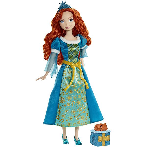 Кукла Мерида со сладостями, Принцессы ДиснейИгрушки<br>Кукла Мерида, Disney Princess (Принцесса Диснея) – это принцесса Мерида с корзиной ароматного печенья с запахом карамели.<br>Кукла Мерида из мультфильма «Храбрая Сердцем» словно сошла с экранов телевизоров. Голубоглазая красавица Мерида выглядит как всегда великолепно. Мерида одета в сине-зеленое платье, украшенное с золотыми узорами и пояском. На ногах — полупрозрачные синие туфельки на каблуках, на голове — синяя диадема. Её шикарные длинные волосы можно расчесывать и делать из них различные прически. Мерида порадует девочку ароматным игрушечным печеньем, которое пахнет как настоящее лакомство. Печенье находится в красивой корзиночке. У куклы двигаются руки, ноги, поворачивается голова. Ваша малышка с удовольствием будет играть с этой куколкой, проигрывая сюжеты из мультфильма или придумывая различные истории.<br><br>Дополнительная информация:<br><br>- В комплекте: кукла, корзиночка с печеньем<br>- Материал: высококачественный пластик, текстиль<br>- Рост куклы: 28 см.<br>- Размер упаковки: 32,5 х 15 х 5,5 см.<br>- Вес: 237 гр.<br><br>Куклу Мерида, Disney Princess (Принцесса Диснея) можно купить в нашем интернет-магазине.<br>Ширина мм: 15; Глубина мм: 5; Высота мм: 32; Вес г: 237; Возраст от месяцев: 36; Возраст до месяцев: 144; Пол: Женский; Возраст: Детский; SKU: 4026503;