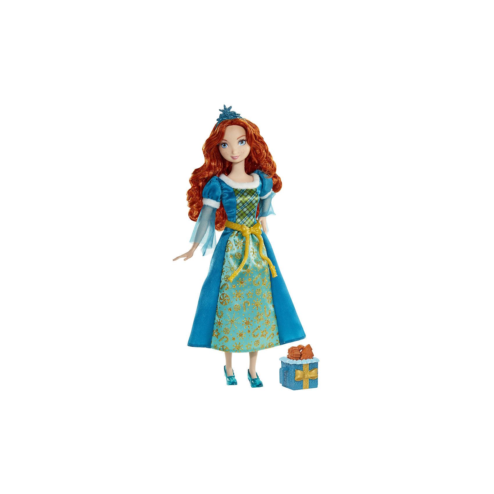 Кукла Мерида со сладостями, Принцессы ДиснейКукла Мерида, Disney Princess (Принцесса Диснея) – это принцесса Мерида с корзиной ароматного печенья с запахом карамели.<br>Кукла Мерида из мультфильма «Храбрая Сердцем» словно сошла с экранов телевизоров. Голубоглазая красавица Мерида выглядит как всегда великолепно. Мерида одета в сине-зеленое платье, украшенное с золотыми узорами и пояском. На ногах — полупрозрачные синие туфельки на каблуках, на голове — синяя диадема. Её шикарные длинные волосы можно расчесывать и делать из них различные прически. Мерида порадует девочку ароматным игрушечным печеньем, которое пахнет как настоящее лакомство. Печенье находится в красивой корзиночке. У куклы двигаются руки, ноги, поворачивается голова. Ваша малышка с удовольствием будет играть с этой куколкой, проигрывая сюжеты из мультфильма или придумывая различные истории.<br><br>Дополнительная информация:<br><br>- В комплекте: кукла, корзиночка с печеньем<br>- Материал: высококачественный пластик, текстиль<br>- Рост куклы: 28 см.<br>- Размер упаковки: 32,5 х 15 х 5,5 см.<br>- Вес: 237 гр.<br><br>Куклу Мерида, Disney Princess (Принцесса Диснея) можно купить в нашем интернет-магазине.<br><br>Ширина мм: 15<br>Глубина мм: 5<br>Высота мм: 32<br>Вес г: 237<br>Возраст от месяцев: 36<br>Возраст до месяцев: 144<br>Пол: Женский<br>Возраст: Детский<br>SKU: 4026503