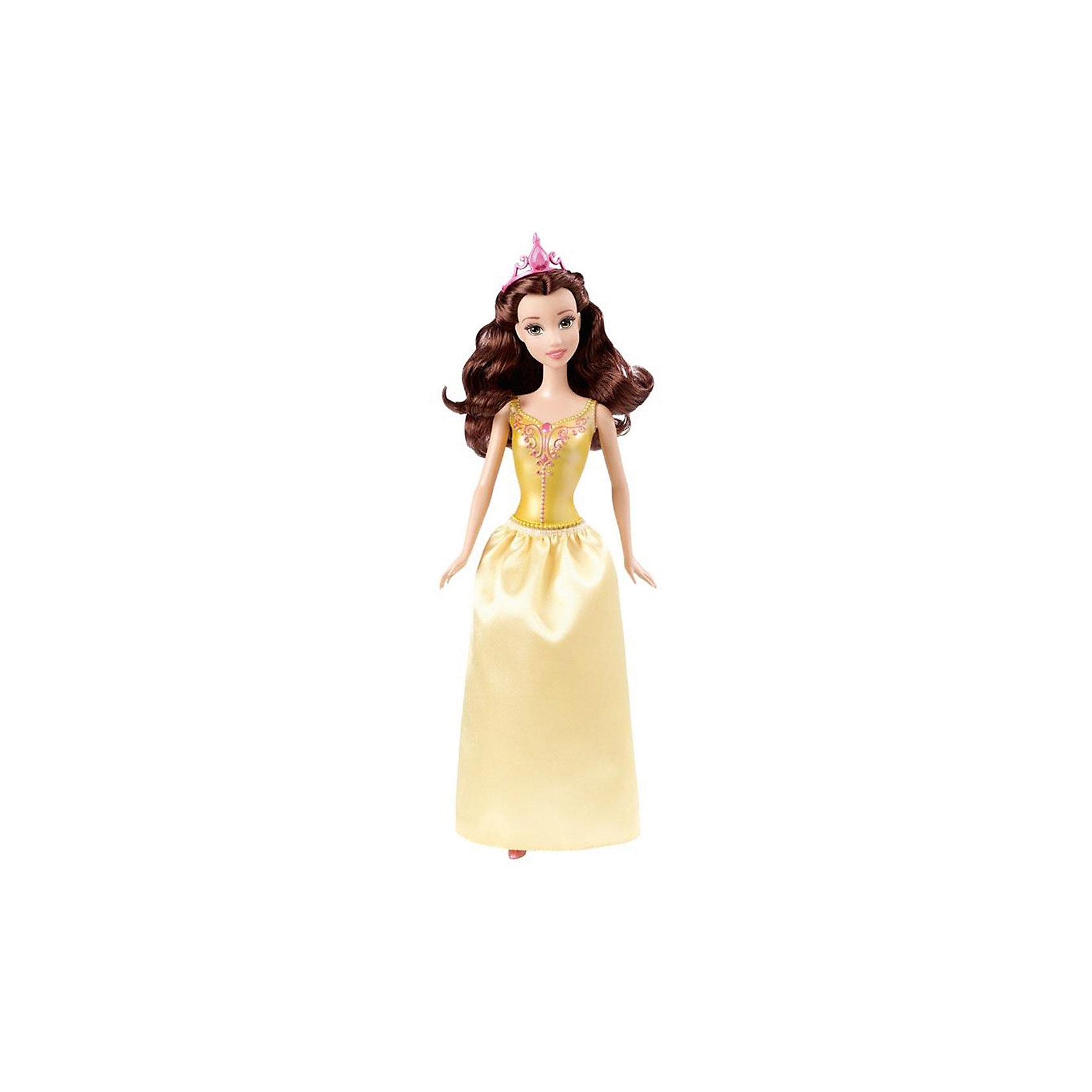 Кукла Бэлль, Принцессы ДиснейКукла Бэлль, Disney Princess (Принцесса Диснея) – эта кукла поможет вашей малышке окунуться в мир сказки.<br>Бэлль из серии «Принцессы Диснея» выглядит совсем как героиня мультфильма «Красавица и чудовище»! У куклы детально прорисованное лицо, так похожее на то, которое мы видим в мультфильме. Платье состоит из цельного с телом куклы пластикового лифа с украшениями и снимающейся юбки. На ногах туфельки. На волосах куколки красуется диадема. Волосы густые и хорошо прошиты, их можно расчесывать. Ручки, ножки и голова куколки подвижны. Руки не сгибаются в локтях. Ваша малышка с удовольствием будет играть с этой куколкой, проигрывая сюжеты из мультсериала или придумывая различные истории.<br><br>Дополнительная информация:<br><br>- Материал: высококачественный пластик, текстиль<br>- Рост куклы: 29 см.<br>- Размер упаковки: 32,5 х 10 х 5 см.<br>- Вес: 212 гр.<br><br>Куклу Бэлль, Disney Princess (Принцесса Диснея) можно купить в нашем интернет-магазине.<br><br>Ширина мм: 10<br>Глубина мм: 5<br>Высота мм: 32<br>Вес г: 212<br>Возраст от месяцев: 36<br>Возраст до месяцев: 144<br>Пол: Женский<br>Возраст: Детский<br>SKU: 4026508