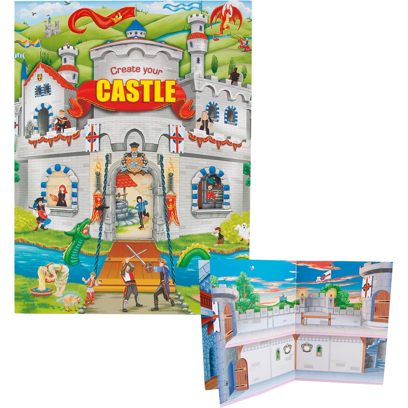 Альбом с наклейками Create your Castle, Creative StudioКниги для развития творческих навыков<br>Альбом с наклейками Create your Castle, Creative Studio<br><br>Характеристики:<br><br>• В комплекте: раскраска, 4 листа с наклейками<br>• Возраст: от 3 до 6 лет<br>• Количество страниц: 24<br><br>Этот альбом «Создай свой замок» из серии CreativeStudio содержит 24 листа с различными сюжетами из замков, которые должны быть наполнены героями и предметами интерьера. На 4 листах с наклейками ребенок обнаружит сотни героев, рыцарей, предметов интерьера и украшений для замка. Кроме этого в наборе есть светящиеся в темноте наклейки. Эта книга помогает развитию воображения вашего ребенка и его мелкой моторики. <br><br>Альбом с наклейками Create your Castle, Creative Studio можно купить в нашем интернет-магазине.<br><br>Ширина мм: 337<br>Глубина мм: 253<br>Высота мм: 48<br>Вес г: 273<br>Возраст от месяцев: 60<br>Возраст до месяцев: 1164<br>Пол: Унисекс<br>Возраст: Детский<br>SKU: 4026810