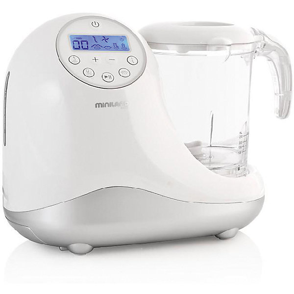 Кухонный комбайн 5 в 1 Chefy 5 Silver, MinilandКухонная утварь<br>Характеристики товара:<br><br>• 3 отсека для раздельного приготовления продуктов.<br>• легко моется <br>• функция стерилизатора. <br>• функция размораживания<br>• визуальные и звуковые режимы предупреждения<br>• дисплей с подсветкой в нескольких вариантах<br>• дополнительный нижний ящик для хранения аксессуаров<br>• все составные части помещаются внутри большого стакана<br>• книга рецептов. <br>• все пластиковые элементы изготовлены без Бисфенола-А<br>• сумка для хранения<br>• размер: 27?23?16,5 см.<br>• страна-производитель: Испания<br>• габариты: 28 x 14 х 30 см<br>• вес: 2.84 кг.<br><br>Кухонный комбайн 5 в 1 имеет множество полезных функций для здорового приготовления детской пищи.<br><br>Быстро нагревает детские бутылочки и контейнеры для детского питания любого размера и формы.<br><br>Готовит и нагревает еду на пару, 2 уровня под разные виды блюд, сохраняет питательные вещества продуктов.<br><br>Измельчает, 2 скорости под разные виды продуктов.<br><br>Большой стакан (1л) может быть увеличен с помощью дополнительных секций.<br><br>Все контейнеры, секции и ножи можно мыть в посудомоечной машине.<br><br>Автоматическое подключение системы безопасности и перевод в режим ожидания при полном выпаривание воды. <br><br>Многофункциональный кухонный комбайн Chefy 5 Silver можно курпить в нашем интернет-магазине.<br>Ширина мм: 306; Глубина мм: 274; Высота мм: 231; Вес г: 2882; Цвет: серебряный; Возраст от месяцев: 0; Возраст до месяцев: 36; Пол: Унисекс; Возраст: Детский; SKU: 4027748;