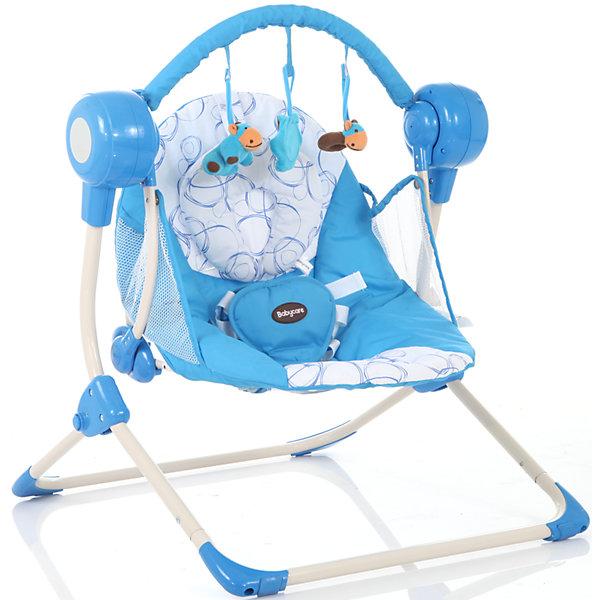 Кресло-качели Balancelle, Baby Care, синийДетские качели для дома<br>Характеристики кресла-качели Balancelle Baby Care:<br><br>• регулируется угол наклона спинки: 2 положения;<br>• предусмотрено 5 скоростей качания;<br>• музыкальный блок: 16 мелодий;<br>• регулятор громкости;<br>• таймер, 10,15,30 минут, автоматическое отключение;<br>• наличие 5-ти точечных ремней безопасности, мягкий паховый ограничитель;<br>• съемная дуга с подвесными игрушками;<br>• чехол кресла-качели можно снять и постирать при температуре 30 градусов;<br>• материал: алюминий, пластик, полиэстер, резиновые накладки на опорной конструкции;<br>• компактность в сложенном виде.<br><br>Размер в разложенном виде: 50х61х60 см<br>Размер сидения: 48х68 см<br>Вес: 3,2 кг<br>Допустимый вес ребенка: до 12 кг, возраст - до 8 месяцев.<br><br>Кресло-качели Baby Care Balancelle с вибро-музыкальным блоком устанавливается ровную поверхность. Для безопасности ребенка предусмотрены ремни безопасности. Во время пребывания в креслице, малыш изучает и рассматривает мягкие подвесные игрушки.<br><br>Комплектация:<br><br>• кресло-качели Balancelle;<br>• вибро-музыкальный блок;<br>• дуга с подвесными игрушками;<br>• съемная подушечка-подголовник, крепится на липучке;<br>• сетевой адаптер;<br>• инструкция.<br><br>Кресло-качели Balancelle, Baby Care, синий можно купить в нашем интернет-магазине.<br><br>Ширина мм: 620<br>Глубина мм: 470<br>Высота мм: 370<br>Вес г: 10800<br>Возраст от месяцев: 0<br>Возраст до месяцев: 8<br>Пол: Мужской<br>Возраст: Детский<br>SKU: 4028901