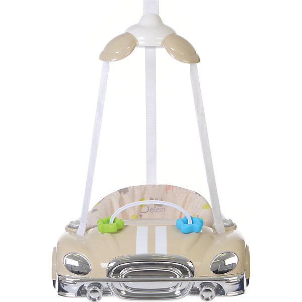 Прыгунки Auto, Jetem, JasmineПрыгунки<br>Jetem Auto (Жетем Авто) – замечательные прыгунки, которые принесут столько радости малышу! Дети обожают машинки и прыгать, а прыгунки Jetem Auto (Жетем Авто) сочетают в себе оба эти удовольствия. С ними кроха научится прыгать, ориентироваться в пространстве и будет прекрасно развивать моторику ножек. Яркие и красивые прыгунки легко и надежно крепятся в дверной проем, а широкий каркас в виде машинки обеспечивает безопасность. Вы легко сможете отрегулировать ремешки под рост и вес ребенка и ему будет очень весело и комфортно. Благодаря игровой панели со звуковыми эффектами малыш будет с пользой проводить время в прыгунках и не заскучает! Прыгунки всегда будут выглядеть как новые, ведь сиденье так легко снять и постирать.<br><br>Дополнительная информация:<br><br>- Прыгунки предназначены для малыша от 4-х месяцев и до достижения 11 кг;<br>- Развивающая игровая панель с музыкальным оформлением;<br>- Мягкое комфортное сидение;<br>- Безопасный пластиковый каркас;<br>- Три точки фиксации: удобно сажать ребенка;<br>- Сиденье крепится в трех положениях;<br>- Регулировка по высоте с помощью надежного фиксатора;<br>- Цвет: Jasmine;<br>- Размер: 48 х 43 х 15 см;<br>- Вес: 3 кг<br><br>Прыгунки Auto, Jetem (Авто Жетем), Jasmine можно купить в нашем интернет-магазине.<br><br>Ширина мм: 600<br>Глубина мм: 440<br>Высота мм: 490<br>Вес г: 3000<br>Возраст от месяцев: 5<br>Возраст до месяцев: 11<br>Пол: Унисекс<br>Возраст: Детский<br>SKU: 4028911