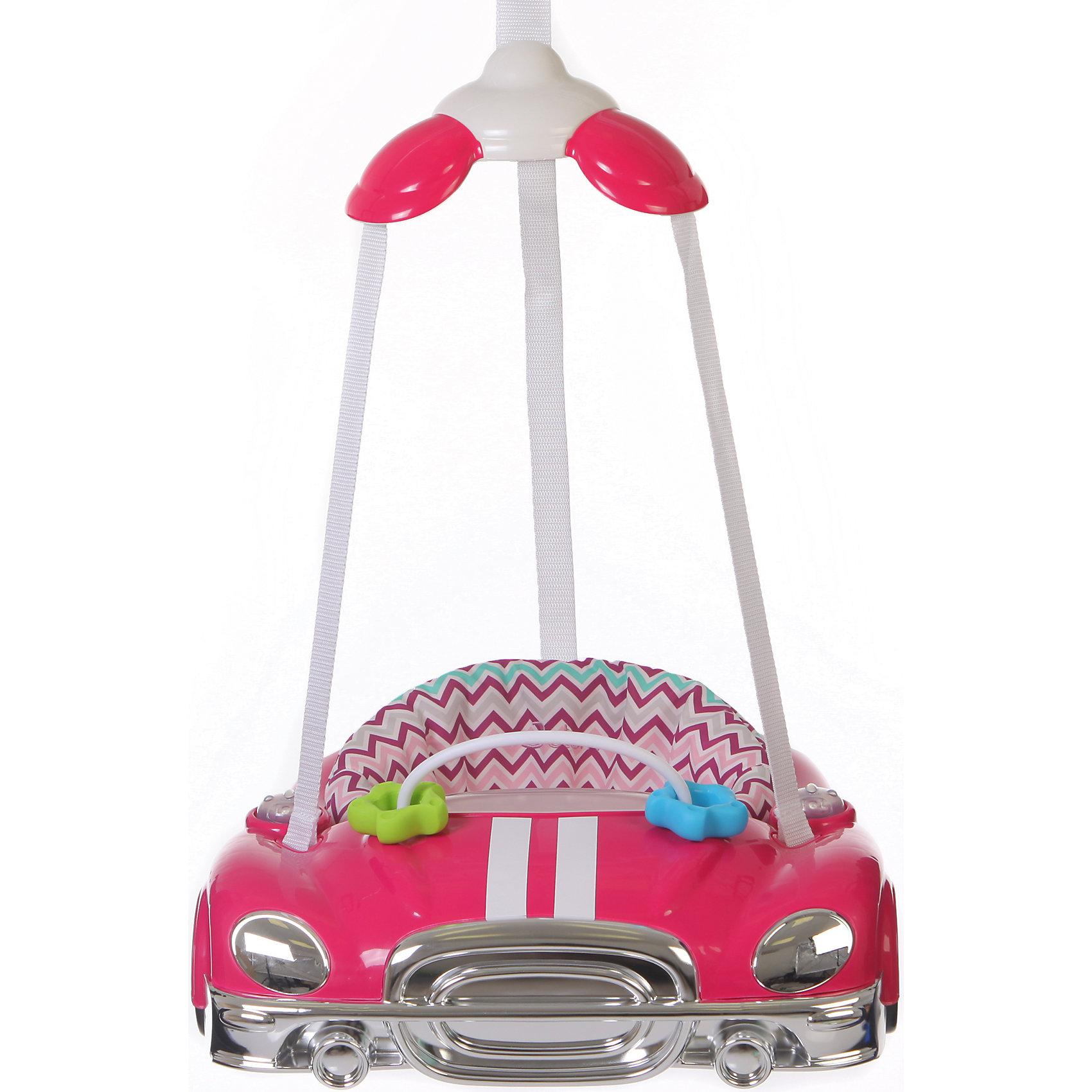 Прыгунки Auto, Jetem, Raspberry StripeJetem Auto (Жетем Авто) – замечательные прыгунки, которые принесут столько радости малышу! Дети обожают машинки и прыгать, а прыгунки Jetem Auto (Жетем Авто) сочетают в себе оба эти удовольствия. С ними кроха научится прыгать, ориентироваться в пространстве и будет прекрасно развивать моторику ножек. Яркие и красивые прыгунки легко и надежно крепятся в дверной проем, а широкий каркас в виде машинки обеспечивает безопасность. Вы легко сможете отрегулировать ремешки под рост и вес ребенка и ему будет очень весело и комфортно. Благодаря игровой панели со звуковыми эффектами малыш будет с пользой проводить время в прыгунках и не заскучает! Прыгунки всегда будут выглядеть как новые, ведь сиденье так легко снять и постирать.<br><br>Дополнительная информация:<br><br>- Прыгунки предназначены для малыша от 4-х месяцев и до достижения 11 кг;<br>- Развивающая игровая панель с музыкальным оформлением;<br>- Мягкое комфортное сидение;<br>- Безопасный пластиковый каркас;<br>- Три точки фиксации: удобно сажать ребенка;<br>- Сиденье крепится в трех положениях;<br>- Регулировка по высоте с помощью надежного фиксатора;<br>- Цвет: Raspberry Stripe;<br>- Размер: 48 х 43 х 15 см;<br>- Вес: 3 кг<br><br>Прыгунки Auto, Jetem (Авто Жетем), Raspberry Stripe можно купить в нашем интернет-магазине.<br><br>Ширина мм: 600<br>Глубина мм: 440<br>Высота мм: 490<br>Вес г: 3000<br>Возраст от месяцев: 5<br>Возраст до месяцев: 11<br>Пол: Унисекс<br>Возраст: Детский<br>SKU: 4028913