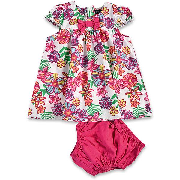 Комплект для девочки: платье и трусы BLUE SEVENКомплекты<br>Комплект для девочки: платье и трусы Blue Seven. <br>Состав: 100% хлопок<br>Ширина мм: 157; Глубина мм: 13; Высота мм: 119; Вес г: 200; Цвет: розовый; Возраст от месяцев: 0; Возраст до месяцев: 3; Пол: Женский; Возраст: Детский; Размер: 56,68,62; SKU: 4030809;