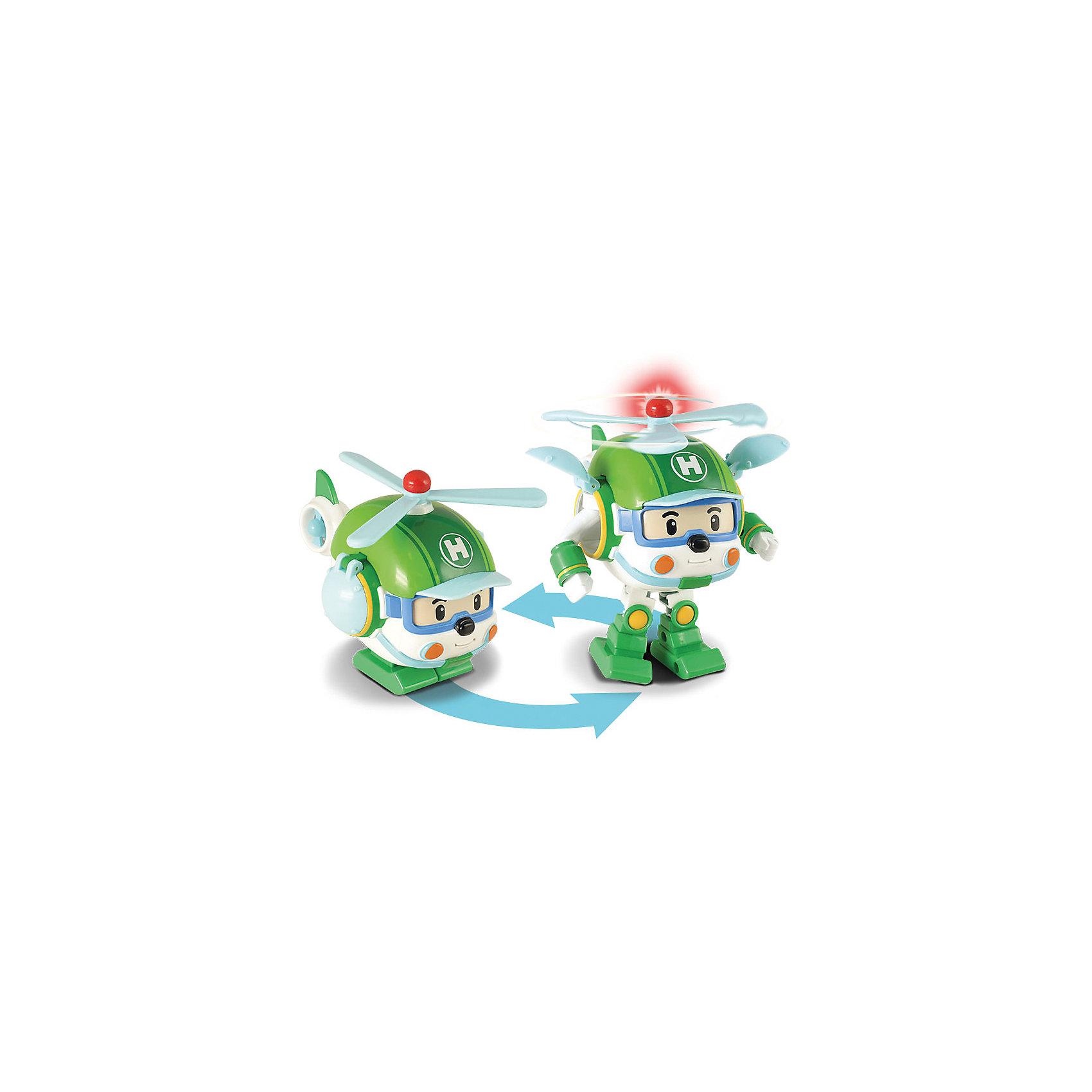 Хэли-трансформер (свет + инструменты), 12,5 см, Робокар ПолиРобокар Поли (Robocar Poli) -  добрый, интересный мультфильм про жителей удивительного города Брумстауна. В главных ролях команда отважных машинок-спасателей. Каждый малыш мечтает получить фигурки любимых героев в подарок! Хэли - важный участник операций по спасению! Он первый вылетает, чтобы узнать обстановку и предупредить остальных. Хэли отважный, веселый и ничего не боится. При необходимости он может превратиться из вертолета в робота и обратно. Играть с роботами-трансформерами не только интересно, но и очень полезно, ведь это развивает координацию и внимание. Играть с Хэли будет еще интереснее, ведь он может включить свет сирены, а ручки и ножки у него подвижны. Отважный Хэли летит на вызов не с пустыми руками:  камера, фотоаппарат помогут правильно оценить ситуацию с воздуха. Соберите всю коллекцию из серии Робокар Поли (Robocar Poli) и пускайтесь с любимыми героями в захватывающие приключения!<br><br>Дополнительная информация:<br><br>- В комплекте: робот-трансформер Хэли, фотоаппарат, видеокамера;<br>- Световая мигалка;<br>- Пропеллер крутится, руки и ноги подвижны;<br>- Вертолет с инерционным механизмом;<br>- Робот легко трансформируется в вертолет и обратно вручную; <br>- Светодиодная подсветка мигалки включается при движении Хэли;<br>- Необходимы батарейки: 2хAG13 (LR44) в комплекте;<br>- Материал: пластик;<br>- Размер вертолета: 12,5 см, робота: 12,5 см;<br>- Вес: 300 г<br><br>Хэли-трансформера (свет + инструменты), 12,5 см, Робокар Поли (Robocar Poli) можно купить в нашем интернет-магазине.<br><br>Ширина мм: 200<br>Глубина мм: 130<br>Высота мм: 170<br>Вес г: 300<br>Возраст от месяцев: 36<br>Возраст до месяцев: 84<br>Пол: Унисекс<br>Возраст: Детский<br>SKU: 4033637