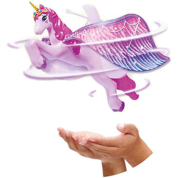 Летающий Единорог, Flying FairyИнтерактивные игрушки для малышей<br>Летающий Единорог, Flying Fairy (Летающая Фея) словно по волшебству зависает в воздухе на небольшом расстоянии от ладони или любой другой поверхности. Перед полетом игрушку необходимо заряжать в течение 30 минут от специальной подставки на батарейках. Воздушные крылья, розовая грива, золотистый рог и очень точная прорисовка деталей делает единорога просто волшебным!<br><br>Характеристики:<br>-Время полной зарядки: 30 минут<br>-Время полета: около 5 мин<br>-Плавное перемещение в любых направлениях: вверх-вниз, вправо-влево<br><br>Комплектация: единорог, зарядное устройство, инструкция<br><br>Дополнительная информация:<br>-Материалы: пластик<br>-Размеры в упаковке: 28х20х24 см<br>-Вес в упаковке: 710 г<br>-Питание: 6 батареек АА (НЕ входят в комплект) <br><br>Игрушка Летающий Единорог, Flying Fairy (Летающая Фея) станет отличным подарком на Новый Год, ведь он очень обаятельный и не оставит равнодушным ни одну девочку!<br><br>Летающий Единорог, Flying Fairy (Летающая Фея) можно купить в нашем магазине.<br><br>Ширина мм: 285<br>Глубина мм: 245<br>Высота мм: 209<br>Вес г: 535<br>Возраст от месяцев: 72<br>Возраст до месяцев: 144<br>Пол: Женский<br>Возраст: Детский<br>SKU: 4035043
