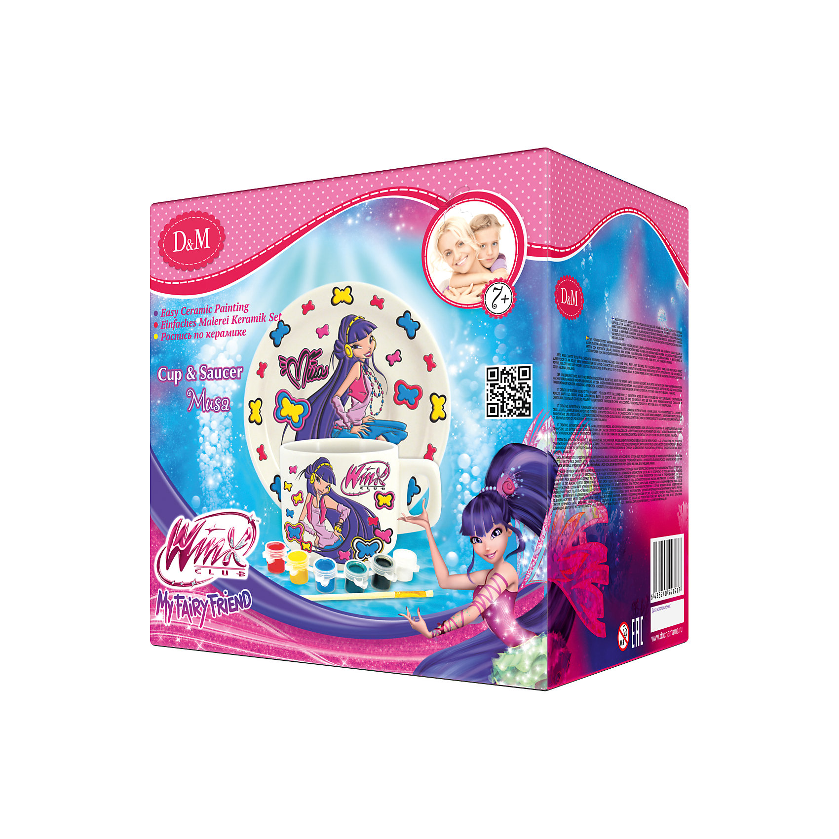 Делай с Мамой Набор для росписи чайной пары Муза, Winx Club набор волшебное приключение 8 клуб winx зd