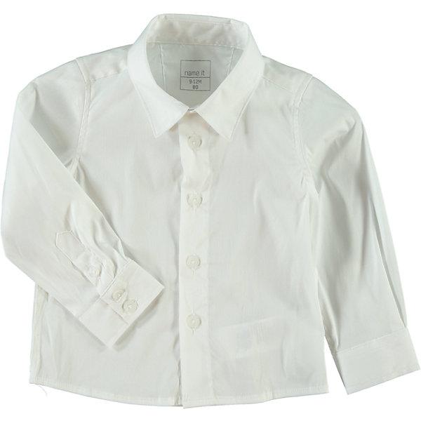 Рубашка для мальчика name itБлузки и рубашки<br>Рубашка для мальчика name it. Состав: 67% хлопок, 30% нейлон, 3% эластан<br>Ширина мм: 230; Глубина мм: 40; Высота мм: 220; Вес г: 250; Цвет: белый; Возраст от месяцев: 18; Возраст до месяцев: 24; Пол: Мужской; Возраст: Детский; Размер: 92,98,80,104,86; SKU: 4035594;