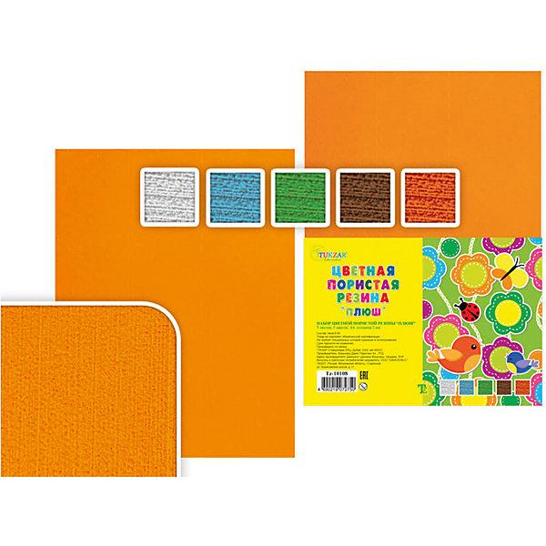 Цветная пористая резина А4 Плюш (5 листов, 5 цветов)Последняя цена<br>Цветная пористая резина Плюш, Tukzar, замечательно подойдет для детского творчества, поделок и аппликаций, а также для различных оформительских работ. В комплекте 5 листов 5 разных цветов (голубой, белый, зеленый, оранжевый, коричневый). Одна сторона листа шероховатая, другая гладкая, на гладкой можно писать и рисовать фломастером.<br><br>Дополнительная информация:<br><br>- В комплекте: 5 листов.<br>- Формат: А4.<br>- Толщина: 2 мм.<br>- Размер упаковки: 30 x 21 x 1,4 см.<br>- Вес: 70 гр.<br><br>Цветную пористую резину Плюш, Tukzar, можно купить в нашем интернет-магазине.<br>Ширина мм: 300; Глубина мм: 210; Высота мм: 10; Вес г: 150; Возраст от месяцев: 36; Возраст до месяцев: 120; Пол: Унисекс; Возраст: Детский; SKU: 4037265;
