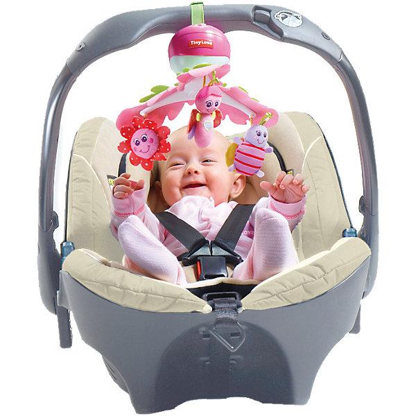 Музыкальный мобиль Моя принцесса, Tiny LoveИгрушки для новорожденных<br>Этот  музыкальный мобиль создан опытными разработчиками Tiny Love с учетом психологии и физиологических особенностей маленького ребенка. <br>В мобиле установлен проигрыватель, который может длительное время воспроизводить приятные музыкальные фрагменты. Грамотно сконструированная система креплений позволяет надежно закреплять устройство на манежах, переносных люльках, автомобильных креслах и колясках различных типов.  <br>Яркие игрушки обязательно привлекут внимание малыша и развеселят кроху. Все детали мобиля выполнены из высококачественных материалов, в производстве которых использованы только гипоаллергенные, нетоксичные красители безопасные для детей. <br><br>Дополнительная информация:<br><br>- Материал: пластик, текстиль.<br>- Размер: 27х33х34 см.<br>- 5 мелодий (общая продолжительность примерно 30 мин).<br>- 2 режима: вращение и вращение с музыкой.<br>- Элемент питания: 3  АА батарейки (нет в наборе).<br>- Игрушки: цветочек, пчелка, бабочка.<br>- Легко собирается и надежно крепится.<br>- Хорошее качество проигрывания мелодий.<br><br>Музыкальный мобиль Моя принцесса, Tiny Love, можно купить в нашем магазине.<br><br>Ширина мм: 341<br>Глубина мм: 192<br>Высота мм: 109<br>Вес г: 540<br>Возраст от месяцев: 0<br>Возраст до месяцев: 24<br>Пол: Женский<br>Возраст: Детский<br>SKU: 4037550