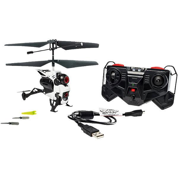 Вертолёт с камерой, AIR HOGSРадиоуправляемые вертолёты<br>Вертолёт с камерой, AIR HOGS (Эйр Хогс) может снимать видео и делать фотографии во время полета! Управление вертолетом и камерой осуществляется с помощью 3-канального инфракрасного пульта управления. Камера записывает видео и фото на встроенную память, откуда отснятый материал можно скопировать на компьютер через USB и сделать потрясающую нарезку с кадрами головокружительного полета!<br><br>Характеристики:<br>-Полная зарядка аккумулятора: 40 минут<br>-5 минут непрерывного полета<br>-Питание: встроенный аккумулятор 3.7V LiPo<br>-Управление: пульт д/у<br>-Возможности: фото-видеосъемка с разрешением 0,3 мегапикселя<br>-Зарядка: от ПК или других устройств при помощи USB-кабеля <br>-Объем встроенной памяти: 128 мегабайт<br>-Предназначен для полетов в помещении или на улице в сухую безветренную погоду<br>-Изготовлен из ударопрочного материала <br>-Встроенный гироскоп и система стабилизации обеспечивает плавность полета и видеоматериала<br><br>Комплектация: вертолет, пульт управления, USB-кабель, устройство для снятия рулевого винта, 2 дополнительных рулевых винта, инструкция<br><br>Дополнительная информация:<br>-Материалы: пластик, металл<br>-Размеры в упаковке: 30,5х7х28 см<br>-Вес в упаковке: 550 г<br>-Требуются 3 батарейки типа ААА (в набор НЕ входят)<br>-Размеры вертолета: 16х13х5 см<br><br>Потрясающий радиоуправляемый вертолет с камерой, подаренный ребенку, захватит дух и вызовет бурю положительных эмоций!<br><br>Вертолёт с камерой, AIR HOGS (Эйр Хогс) можно купить в нашем магазине.<br>Ширина мм: 279; Глубина мм: 95; Высота мм: 305; Вес г: 520; Возраст от месяцев: 120; Возраст до месяцев: 180; Пол: Мужской; Возраст: Детский; SKU: 4038004;